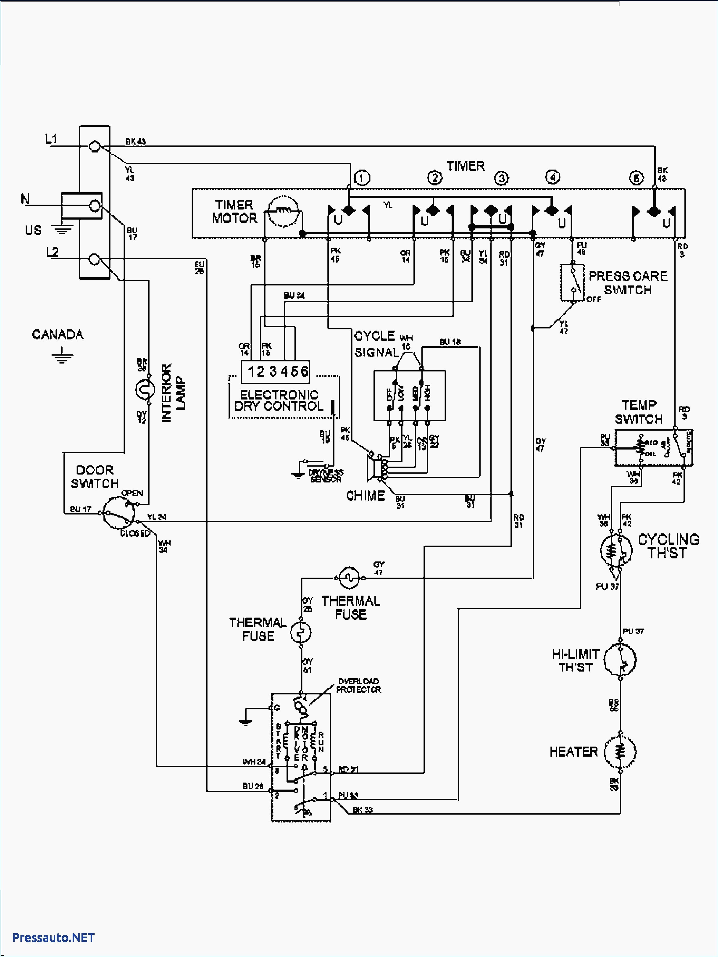wiring diagram for whirlpool dryer