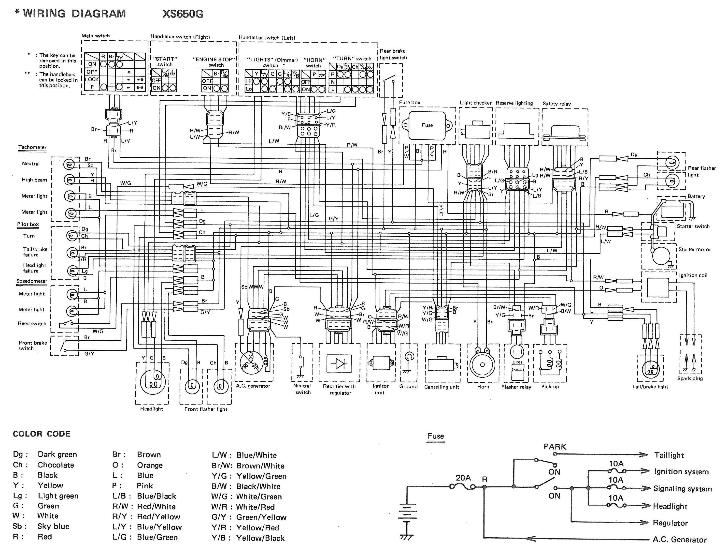 Xs650 Engine Diagram Electrics Of Xs650 Engine Diagram