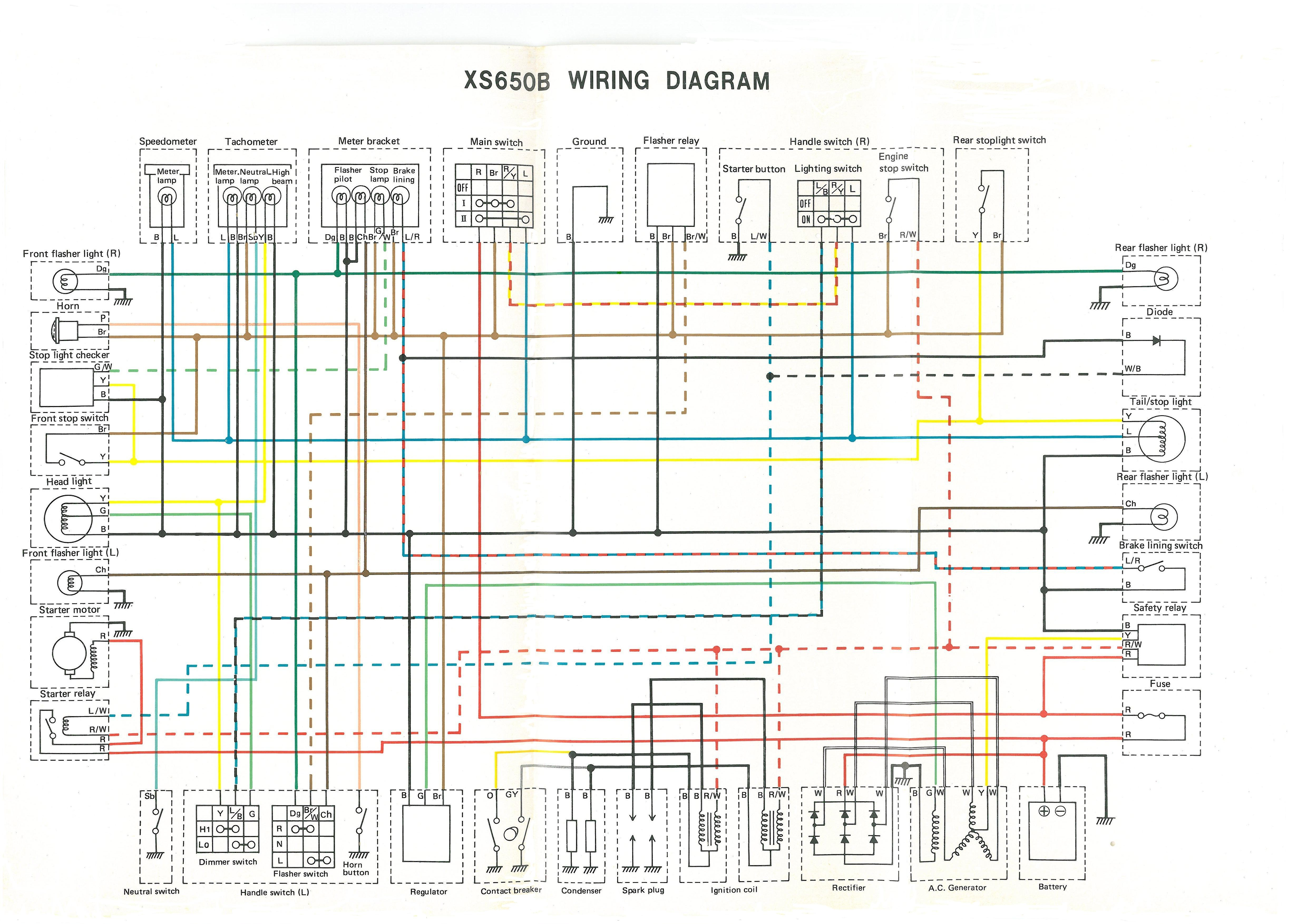 Xs650 Engine Diagram Sr500 Wiring Diagram Another Blog About Wiring Diagram • Of Xs650 Engine Diagram