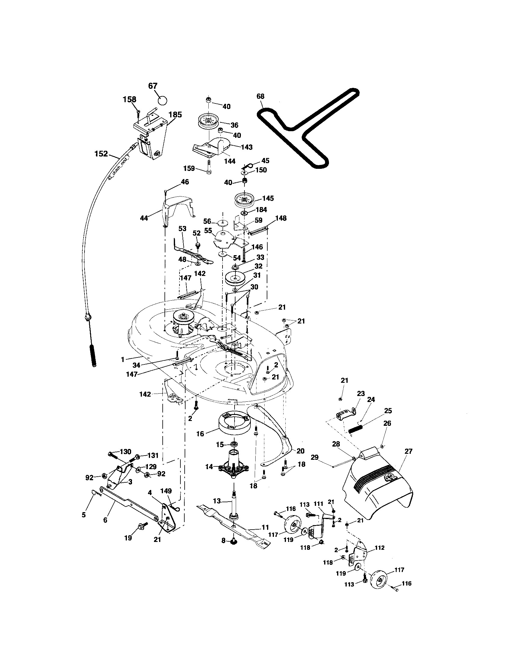 Craftsman Ltx 1000 Parts Diagram Looking for Craftsman Model Front Engine Lawn Tractor