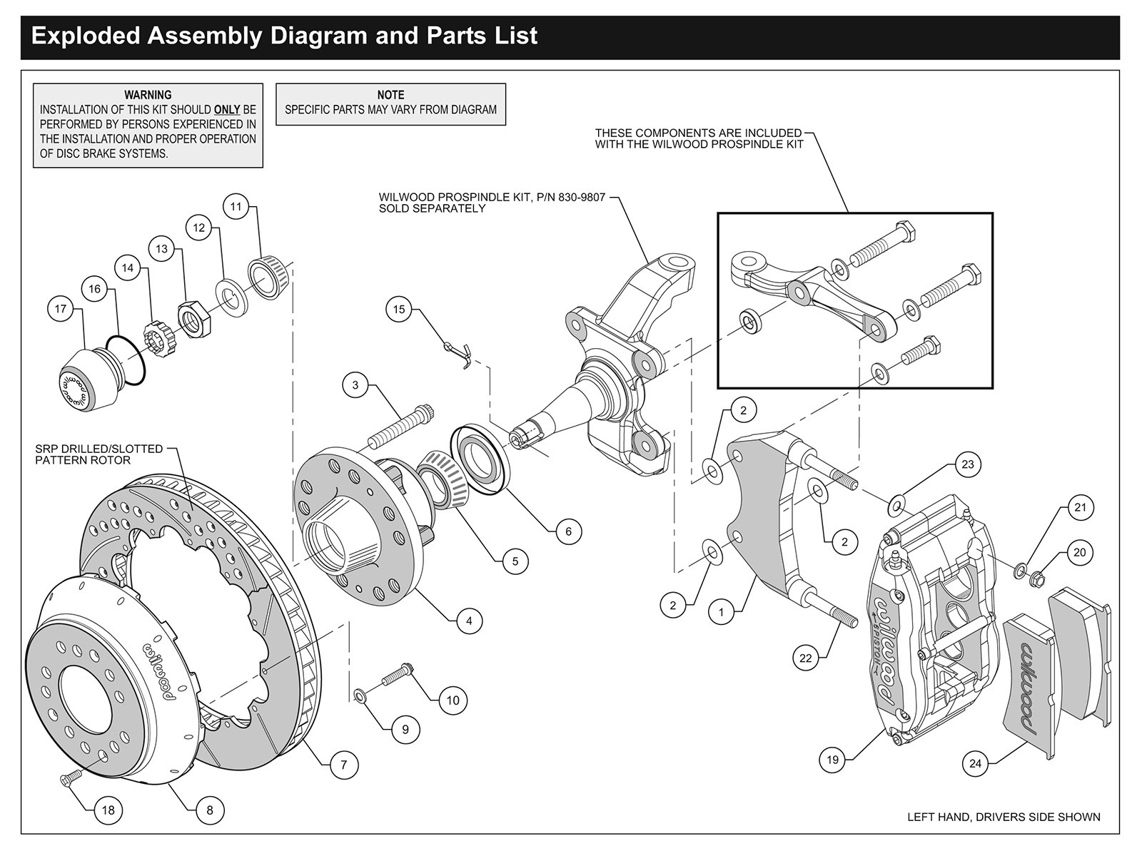 Disc Brake Parts Diagram How to Install Wilwood Disc Brakes Hot Rod Network Of Disc Brake Parts Diagram