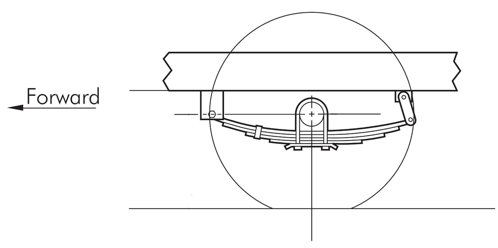 Leaf Spring Parts Diagram 23 1 4 In Double Eye 3 Leaf Trailer Spring 1750lb Capacity Of Leaf Spring Parts Diagram
