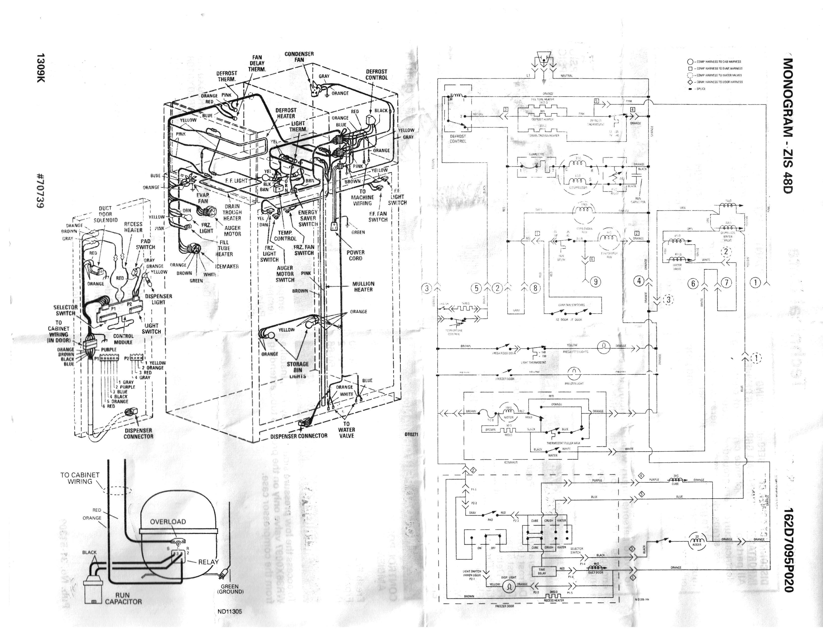 Wiring Diagram for Frigidaire Refrigerator 1948 Ge Refrigerator Schematic Of Wiring Diagram for Frigidaire Refrigerator