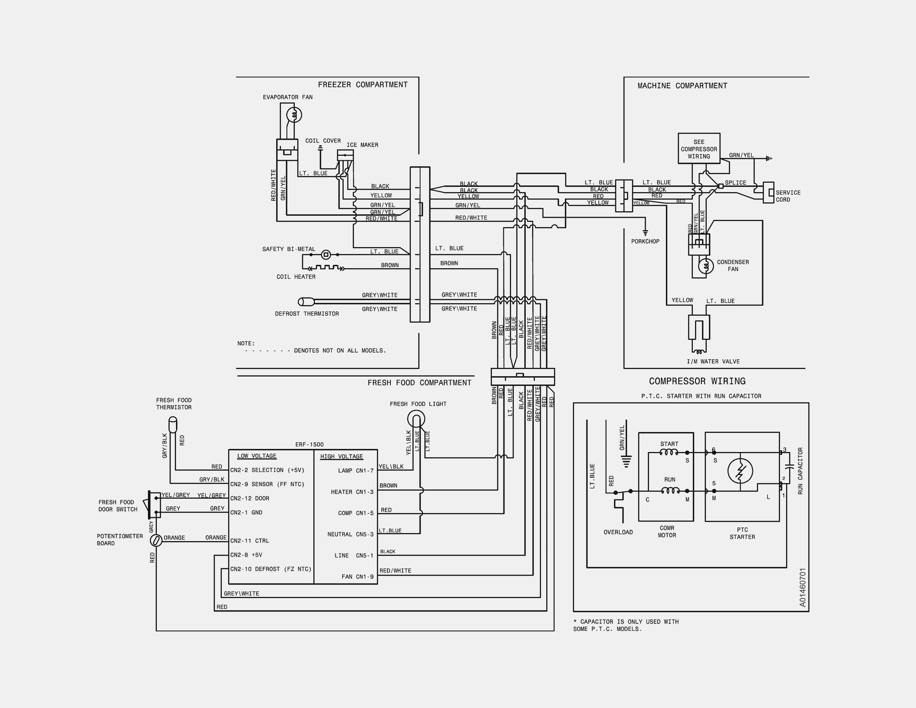 Wiring Diagram for Frigidaire Refrigerator Refrigerator Pressor Wiring Schematic Auto Electrical Wiring Of Wiring Diagram for Frigidaire Refrigerator