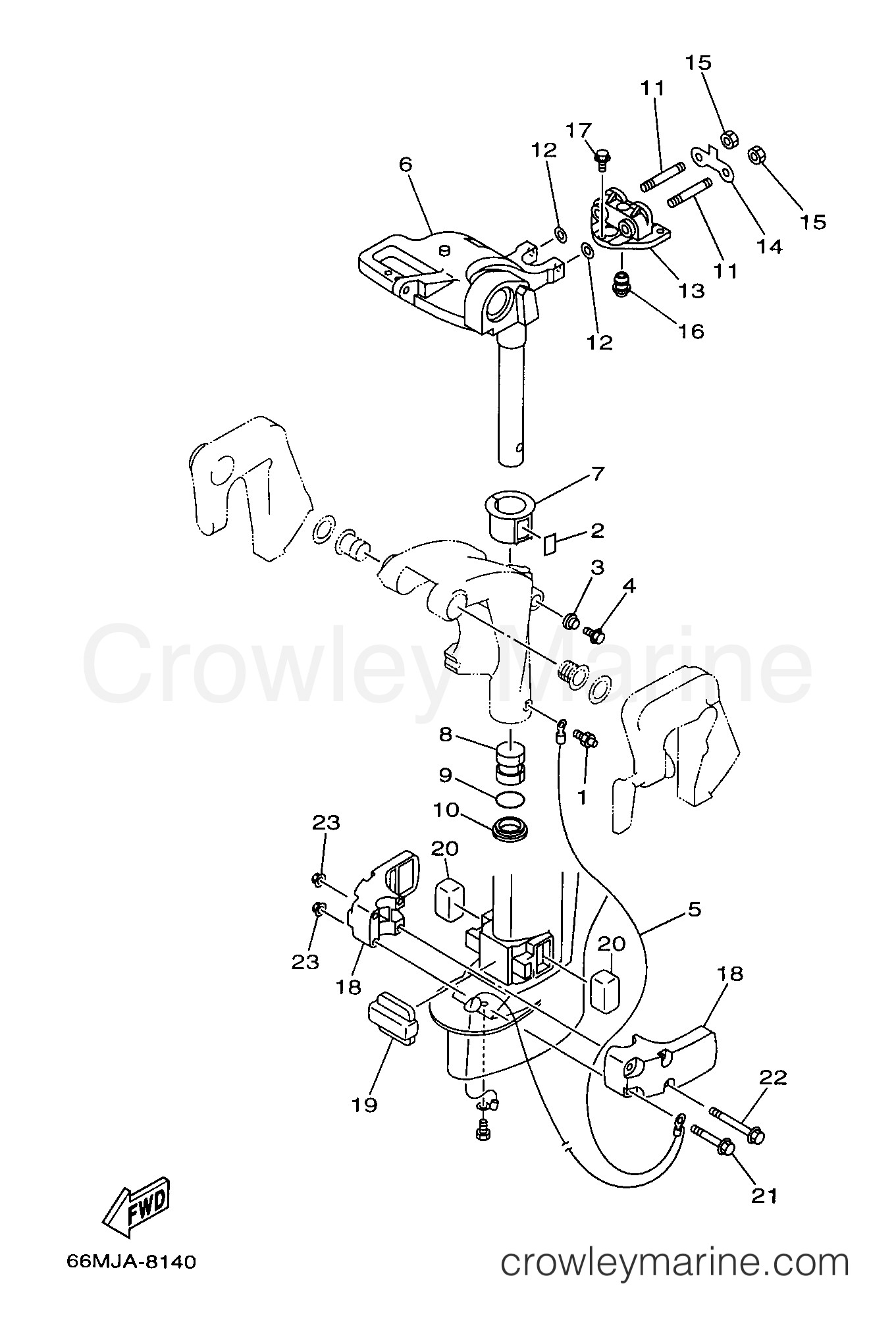 15 Hp Evinrude Parts Diagram Bracket 2 1999 Yamaha Outboard 15hp F15eshx Of 15 Hp Evinrude Parts Diagram