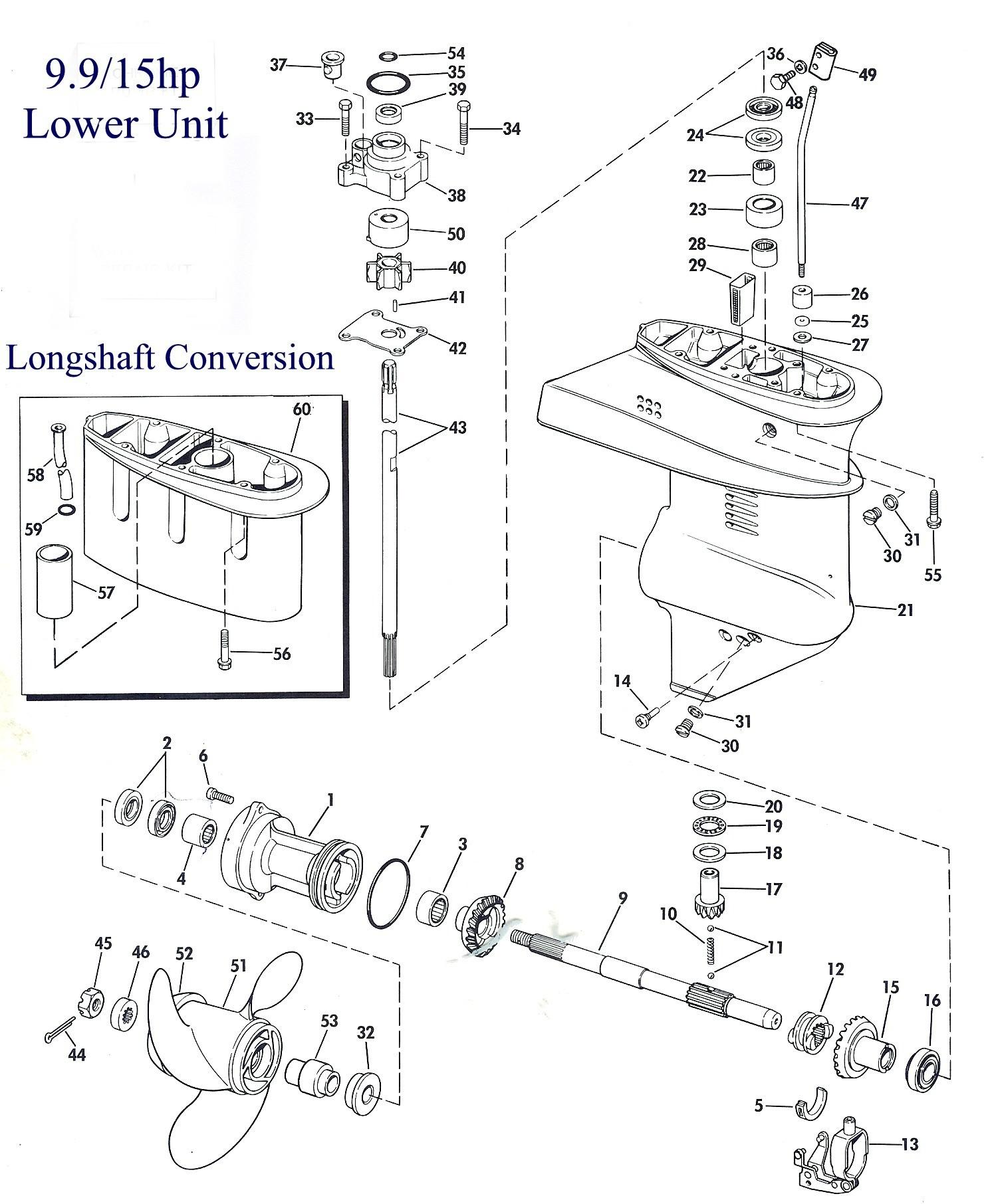 15 Hp Evinrude Parts Diagram Lower Unit Of 15 Hp Evinrude Parts Diagram