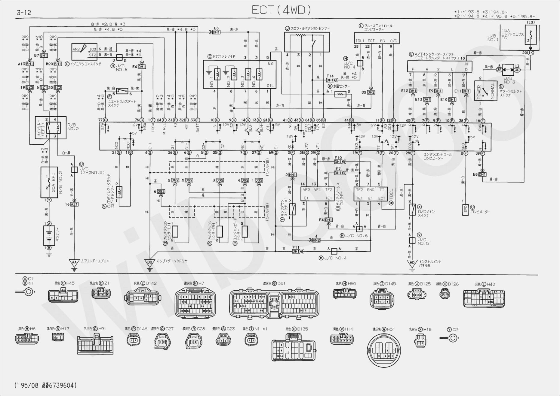 1994 toyota Corolla Wiring Diagram toyota Alternator Wiring Diagram Pdf Of 1994 toyota Corolla Wiring Diagram