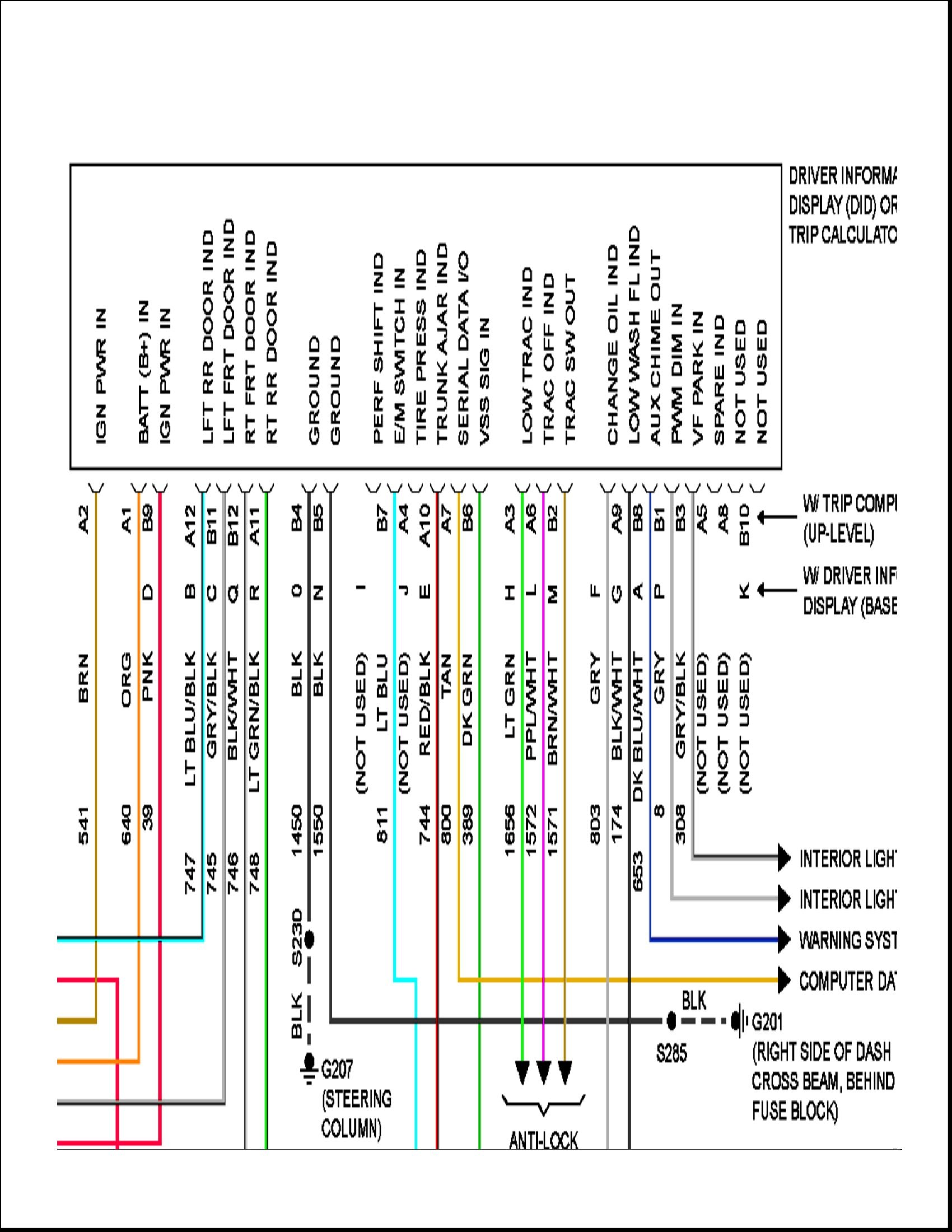 2003 Sunfire Stereo Wiring Diagram