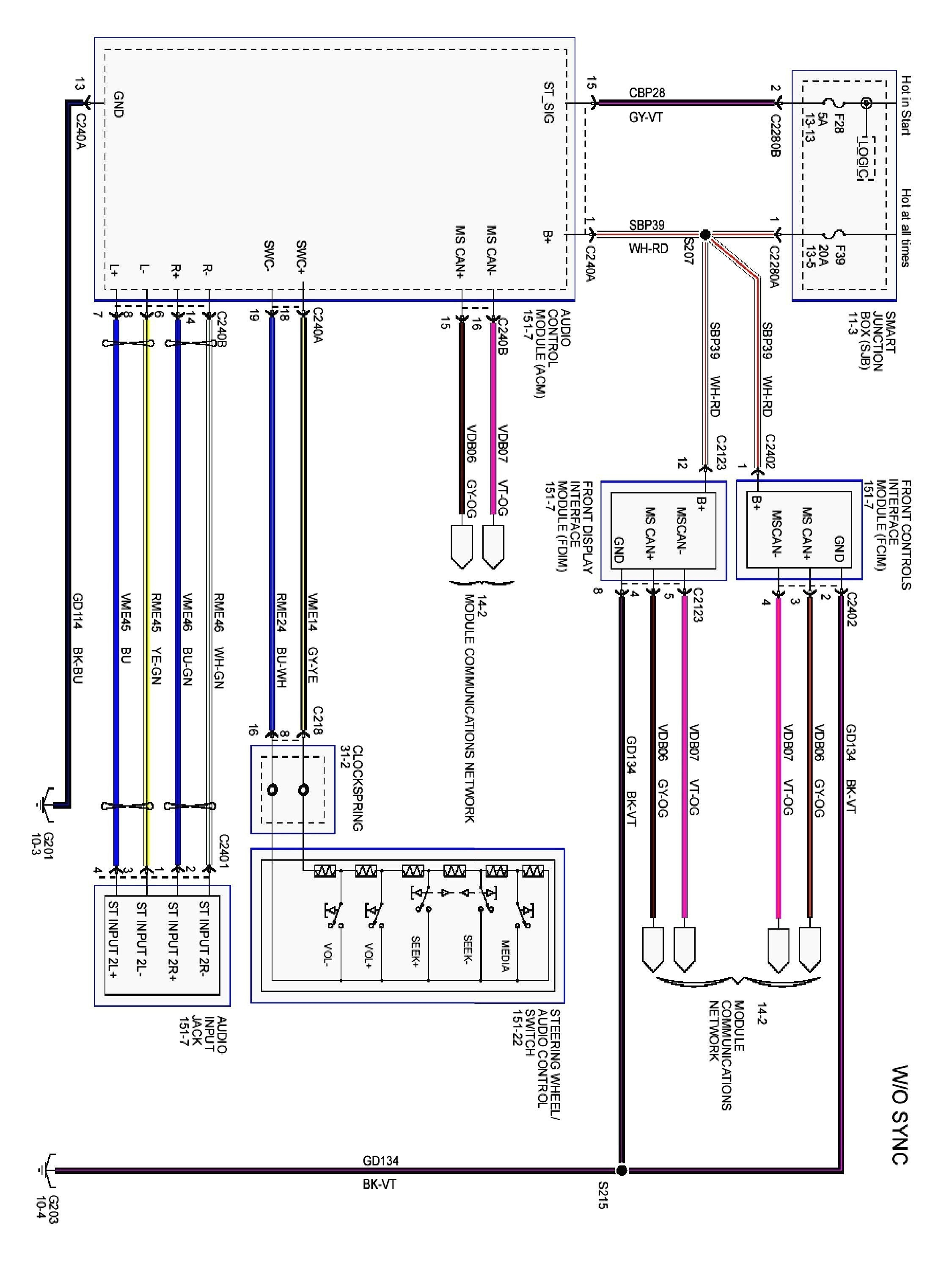 2005 ford Focus Engine Diagram ford Focus Radio Wiring Color Code Moreover ford Stereo Wiring Of 2005 ford Focus Engine Diagram
