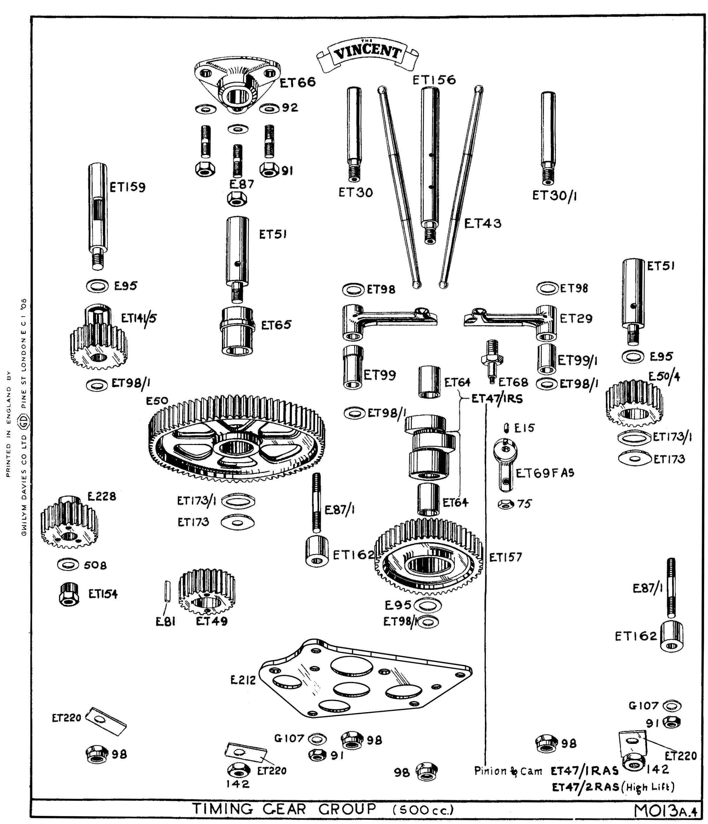 4 Stroke Engine Parts Diagram Vincent Engine Technical Information Of 4 Stroke Engine Parts Diagram