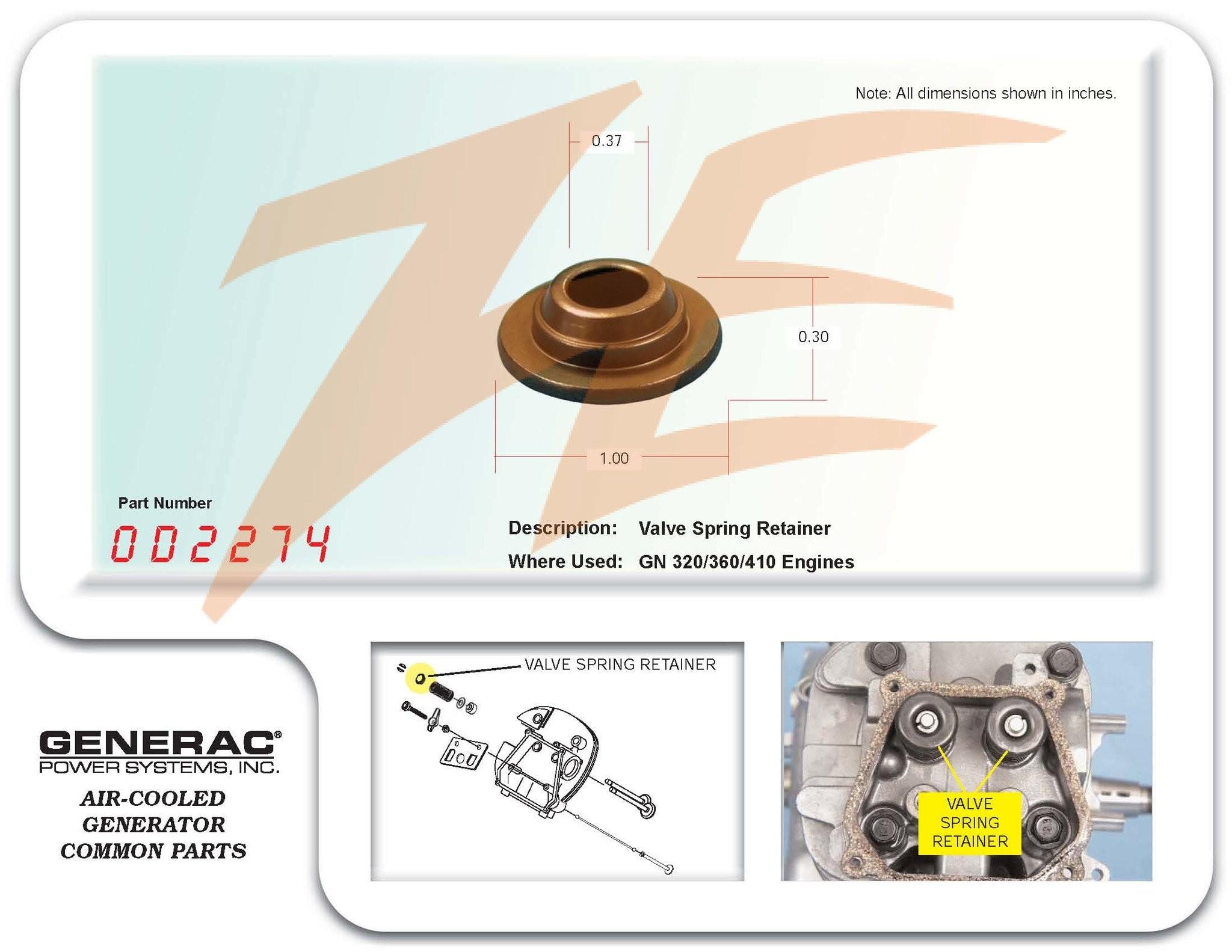 Air Cooled Engine Diagram Generac 0d2274 Valve Spring Retainer 320 360 410cc Engines – Ziller Of Air Cooled Engine Diagram