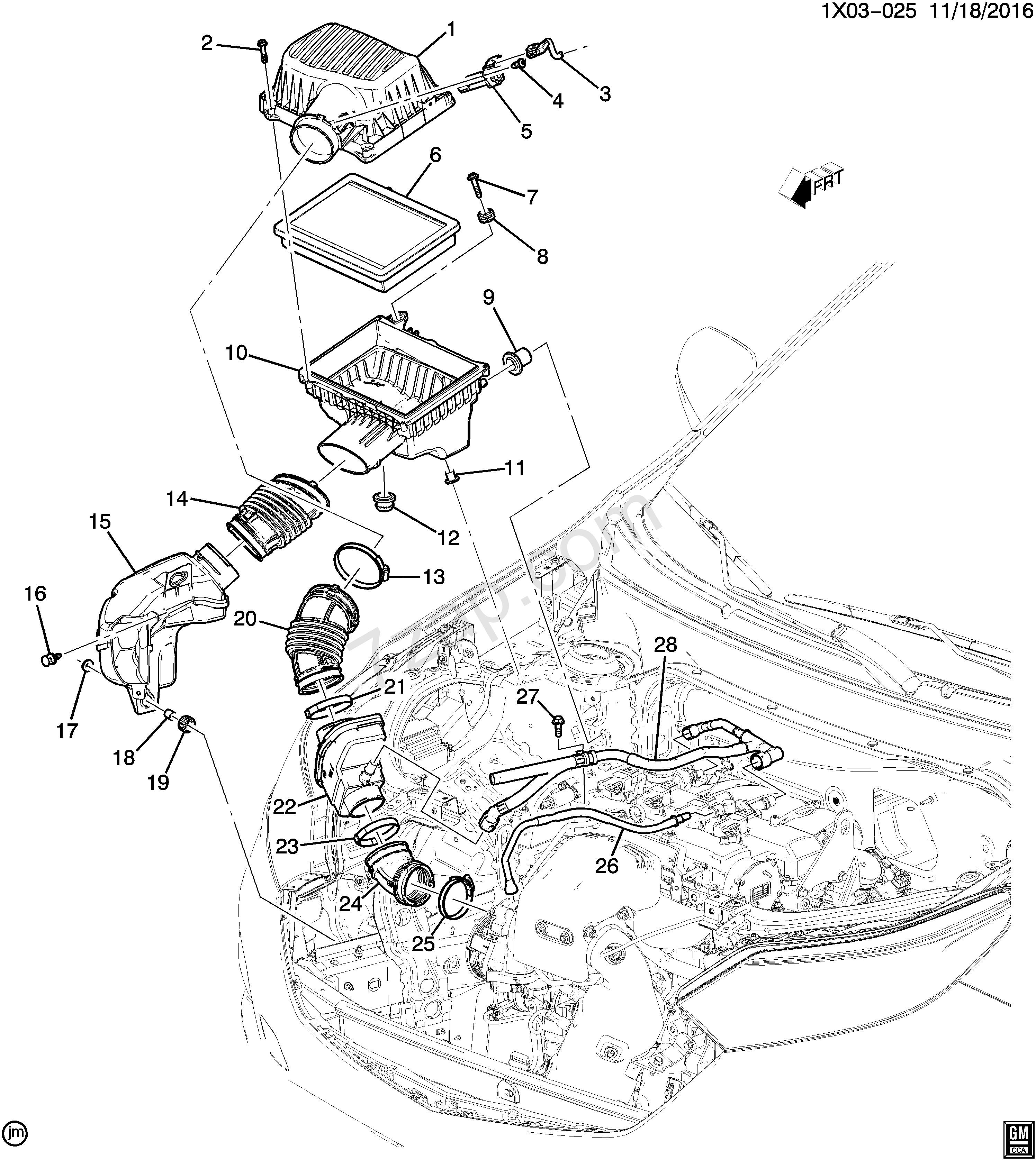 Air Intake System Diagram 2018 2018 Xr Xs26 Air Intake System Ltg 2 0x Chevrolet Equinox Equinox Of Air Intake System Diagram