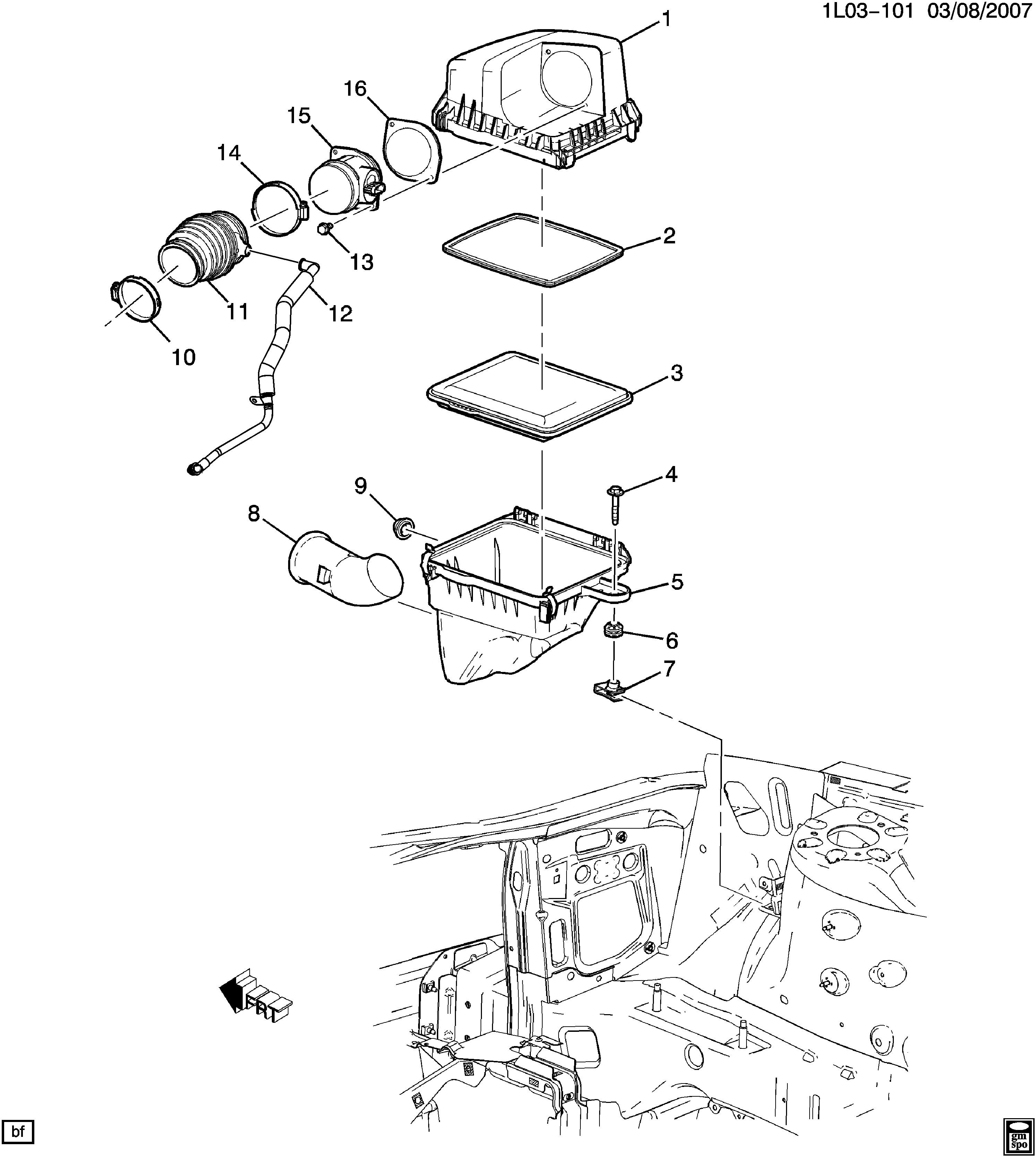 Air Intake System Diagram Equinox Air Intake System Chevrolet Epc Line Nemiga Of Air Intake System Diagram