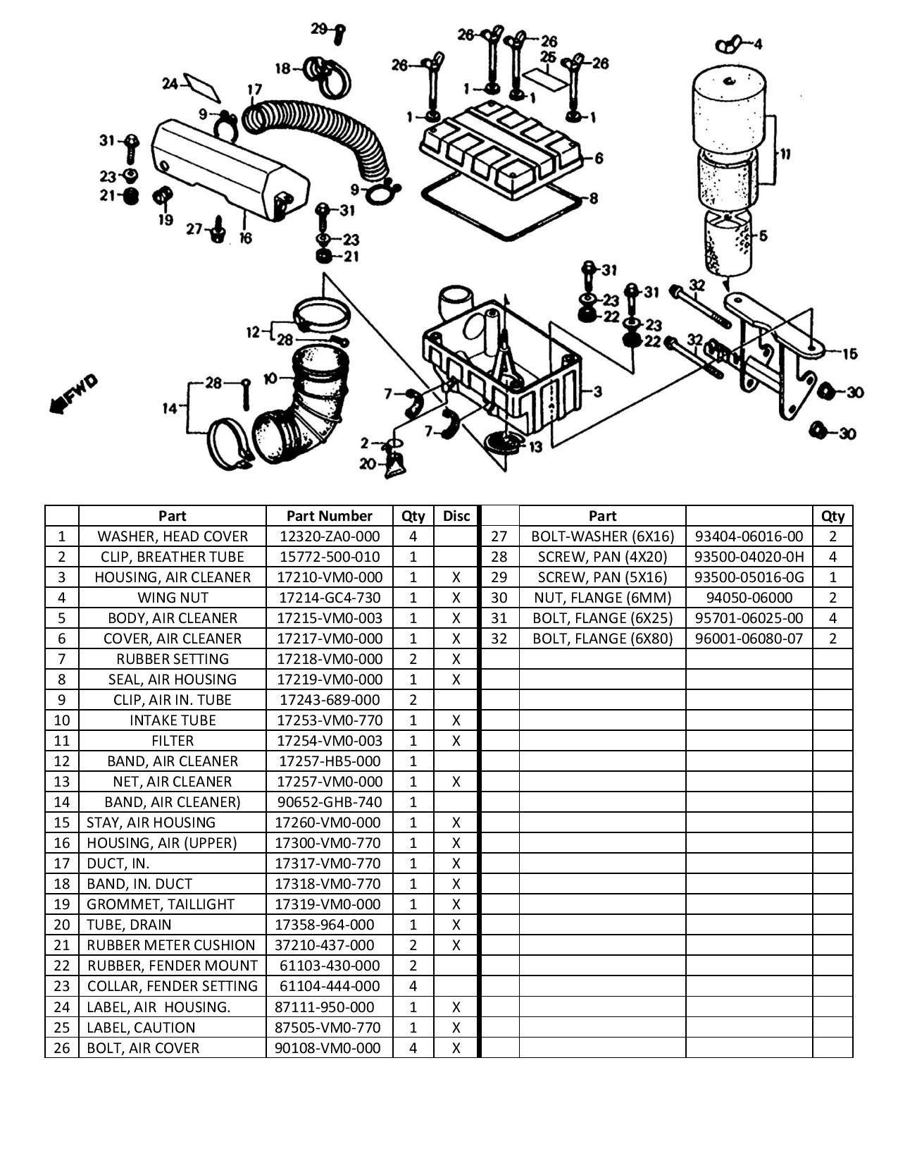 Air Intake System Diagram Honda Odyssey Fl350 Air Intake Diagram and Parts List Of Air Intake System Diagram