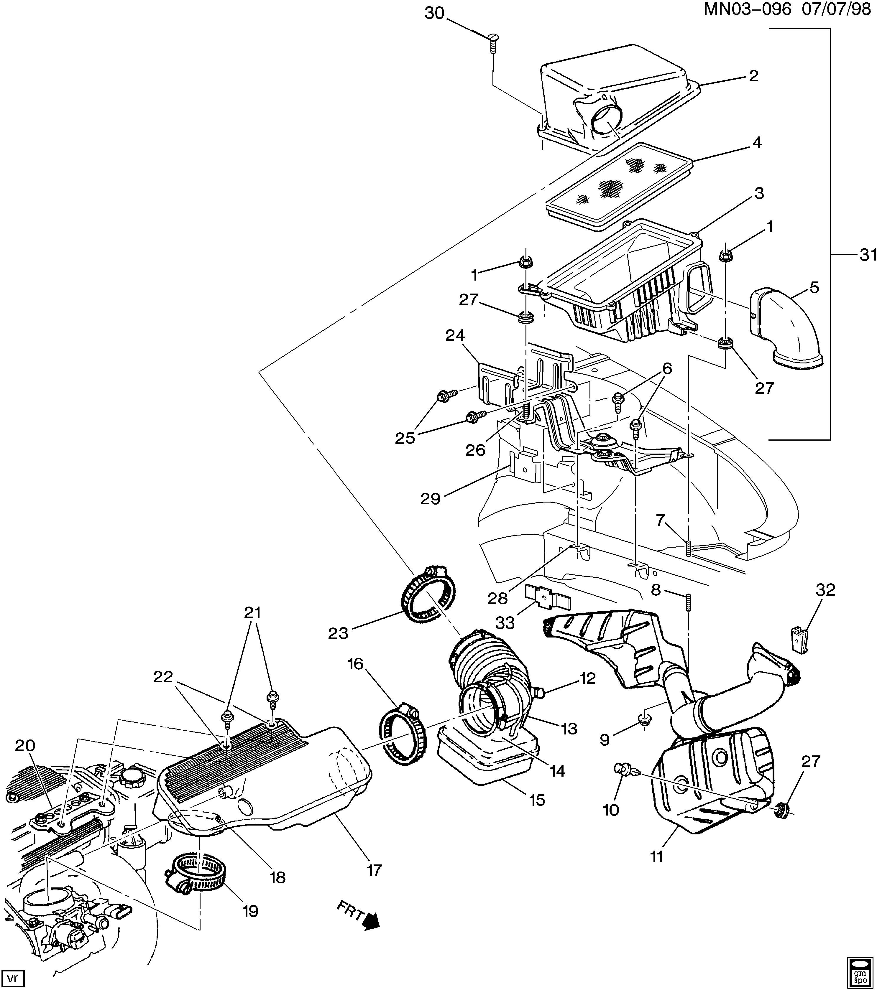 Air Intake System Diagram Pontiac Grand Am N Air Intake System Ld9 2 4t Epc Line Of Air Intake System Diagram