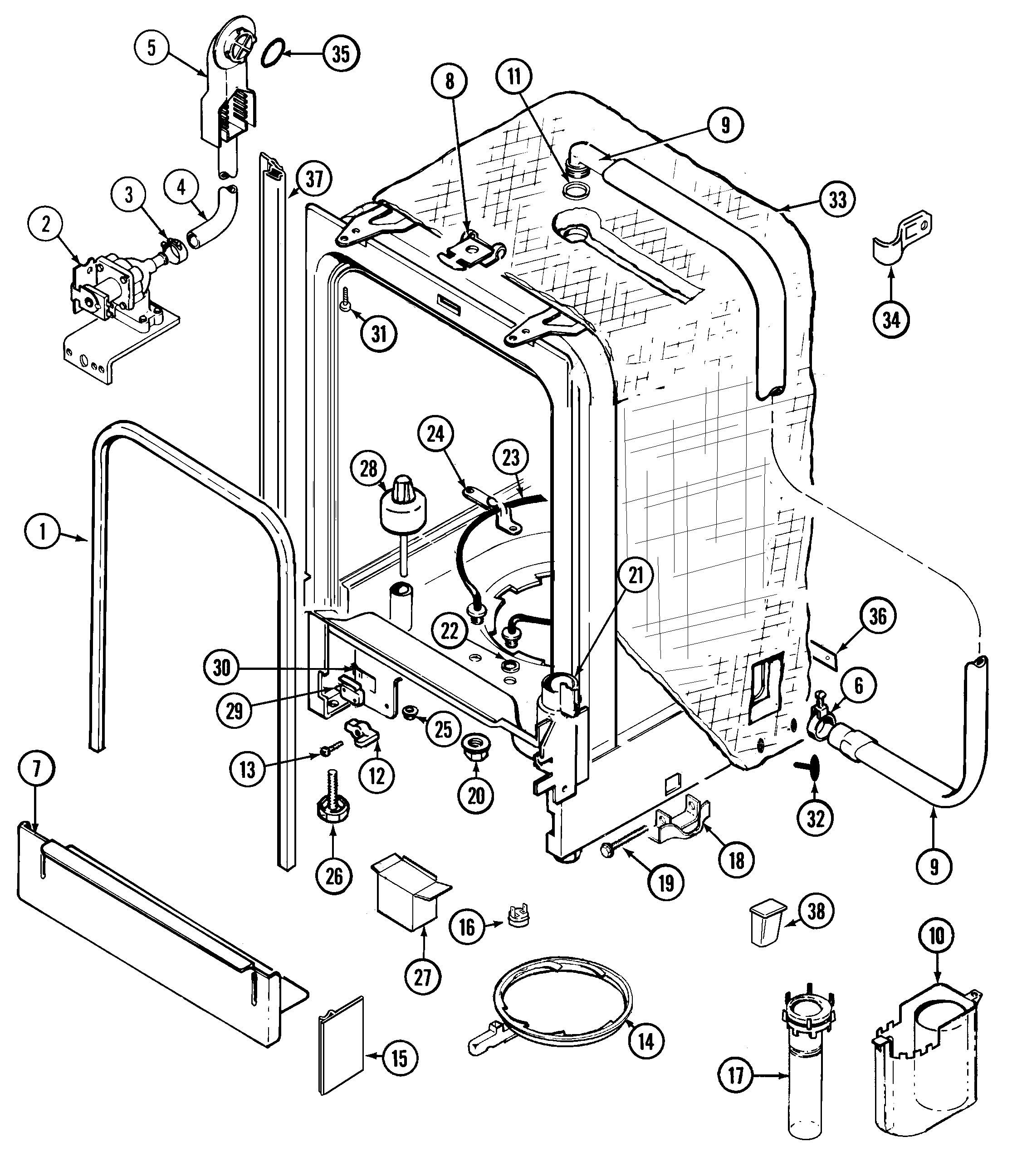Asko Dishwasher Parts Diagram Wiring Diagram for asko Dishwasher