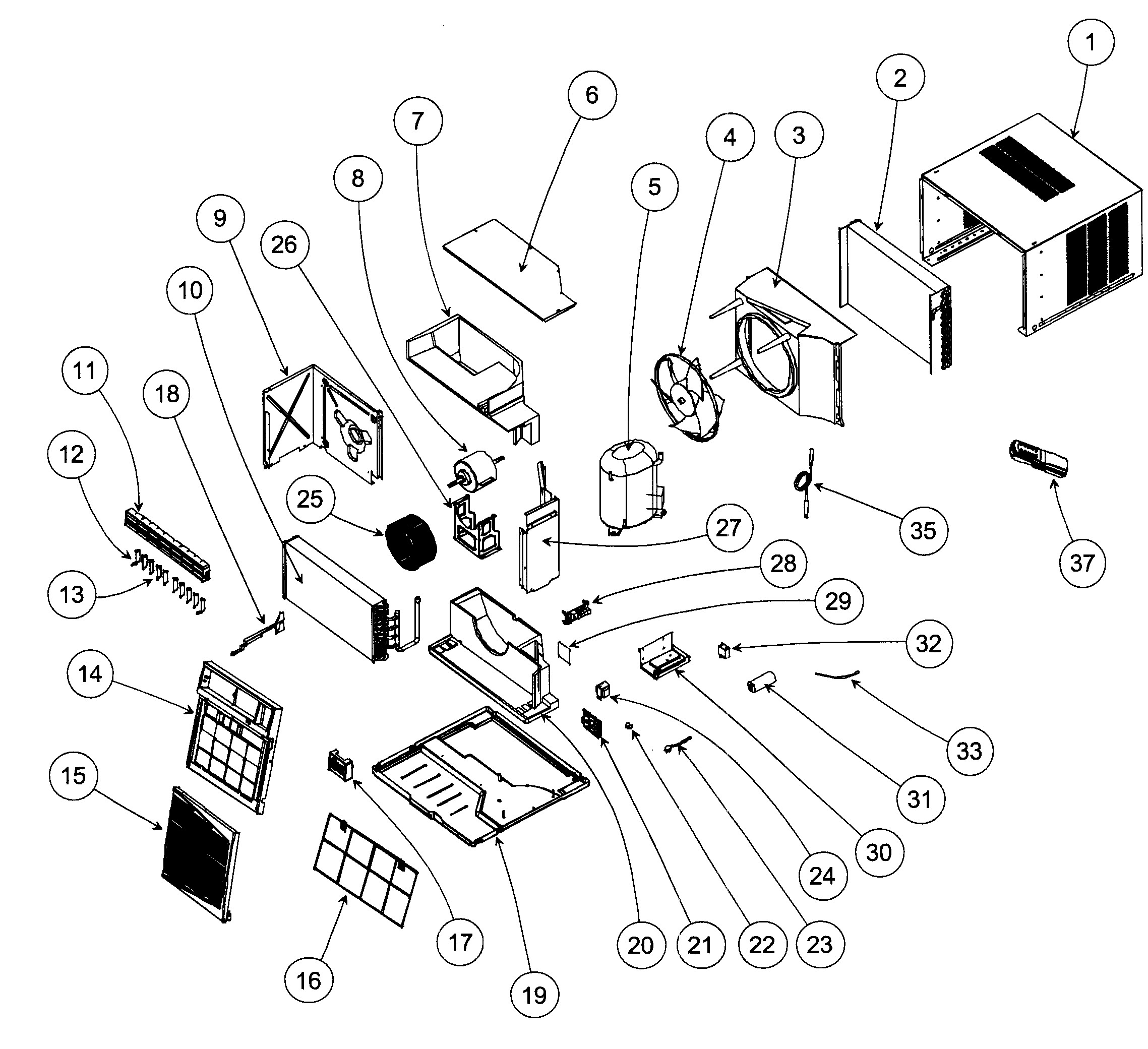 Car Air Conditioner Parts Diagram Looking for Carrier Model Kca P Room Air Conditioner Repair