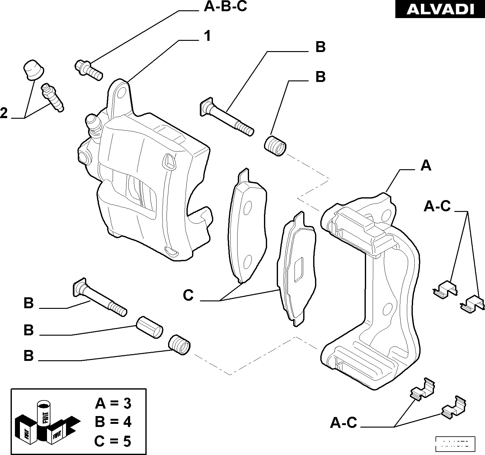 Car Brake assembly Diagram Alfa Romeo Rear Caliper Lh Var 1 Rev 0 1 Of Car Brake assembly Diagram