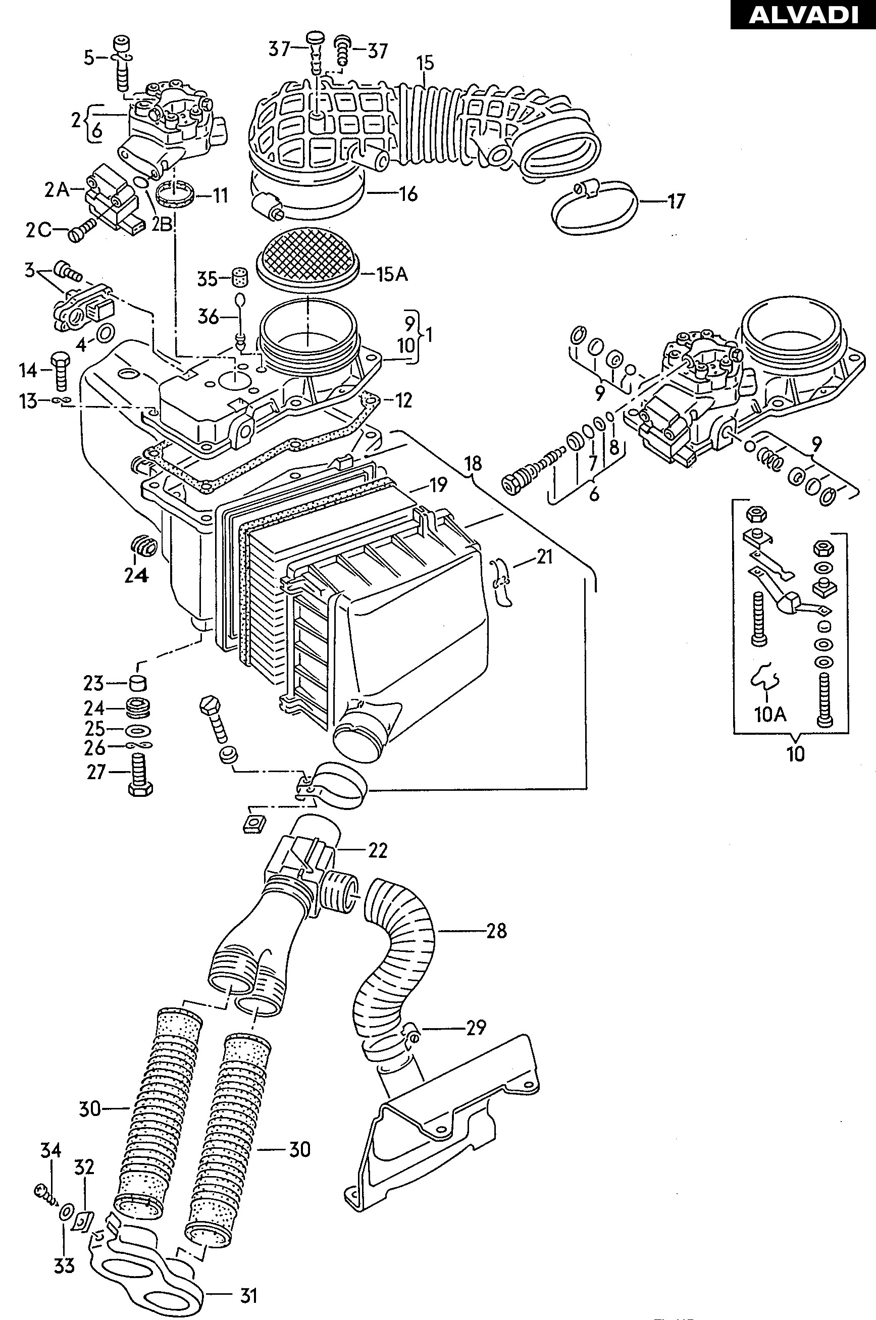Car Radiator Parts Diagram Audi Mass Air Flow Sensor Fuel Metering Valve Air Cleaner with Of Car Radiator Parts Diagram