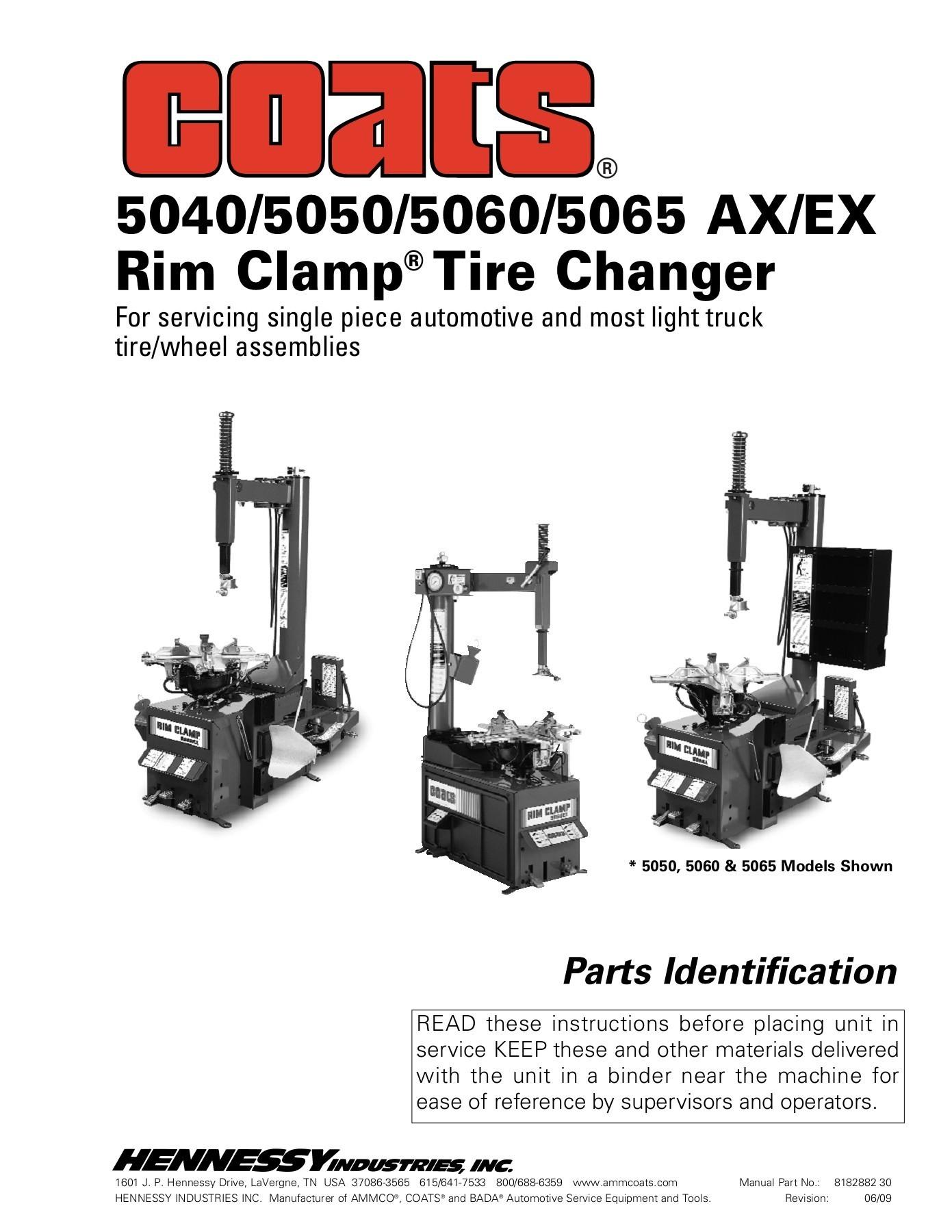 Coats Tire Machine Parts Diagram 5040 5050 5060 5065 Ax Ex Rim Clamp Tire Changer Pages 1 24 Text Of Coats Tire Machine Parts Diagram