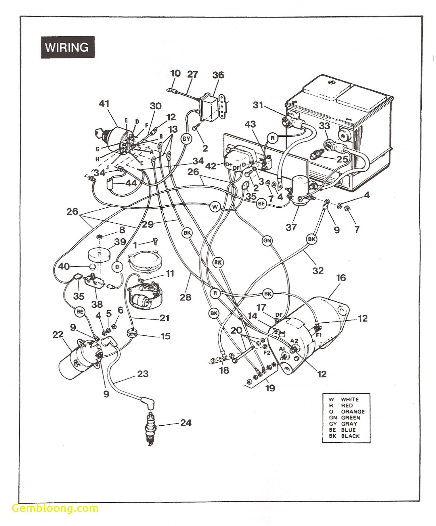 Columbia Par Car Wiring Diagram 2010 Club Car Wiring Diagram