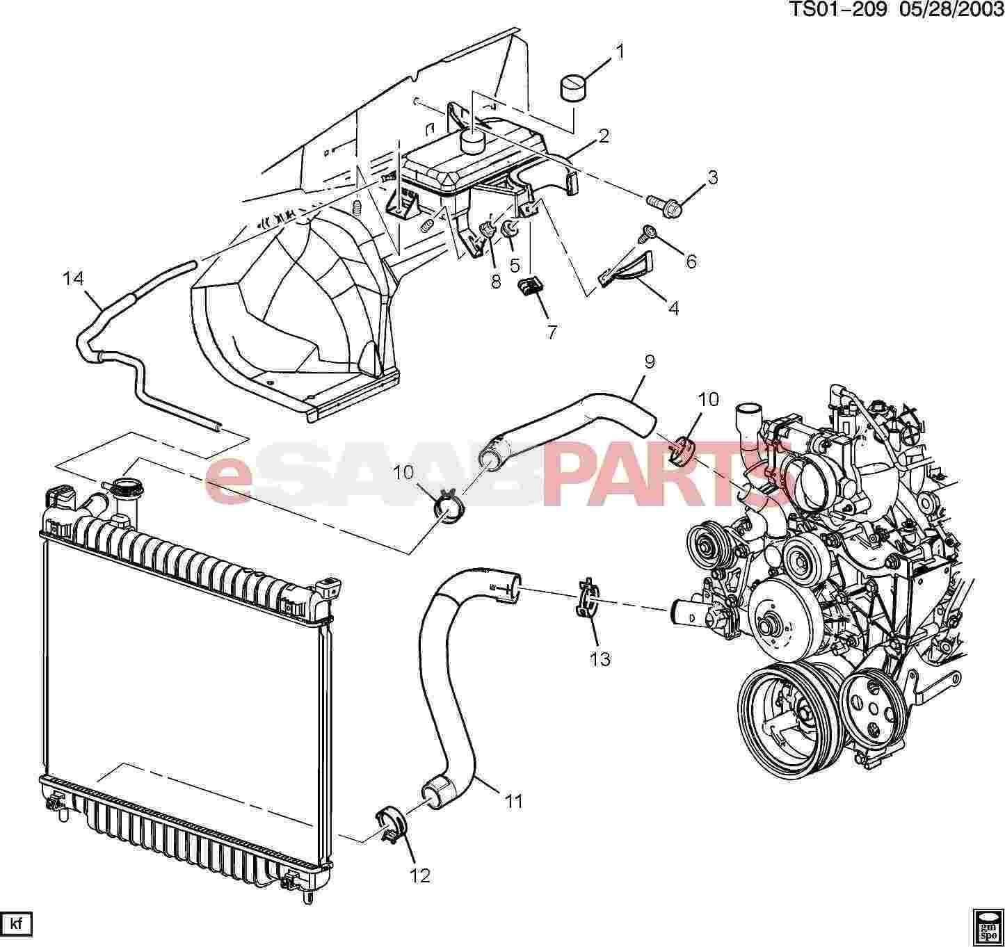 Cooling System Diagrams for Cars Automotive Cooling System Diagram ] Saab Nut Hex with Con Wa M6x1 5