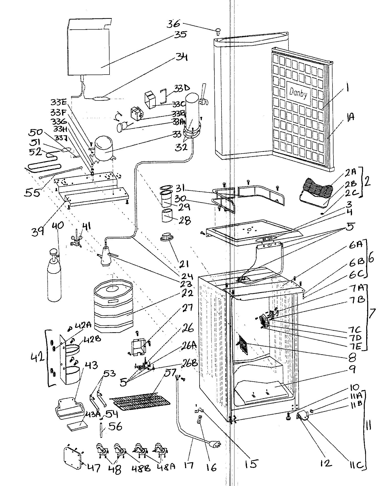 Danby Kegerator Parts Diagram Looking for Danby Model Dkc586bl Wine & Beverage Cooler Repair Of Danby Kegerator Parts Diagram