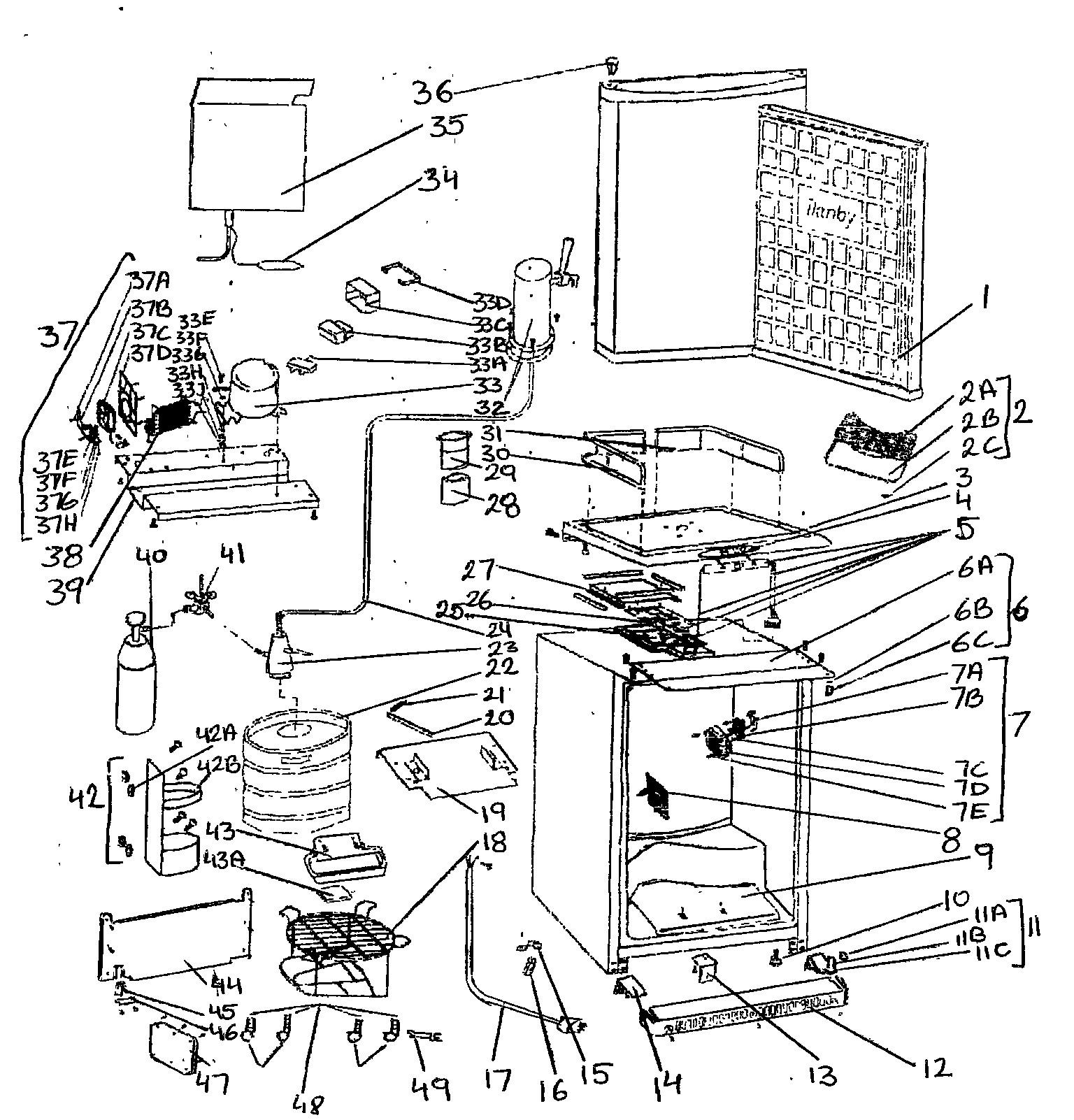 Danby Kegerator Parts Diagram Looking for Danby Model Dkc644bls Wine & Beverage Cooler Repair