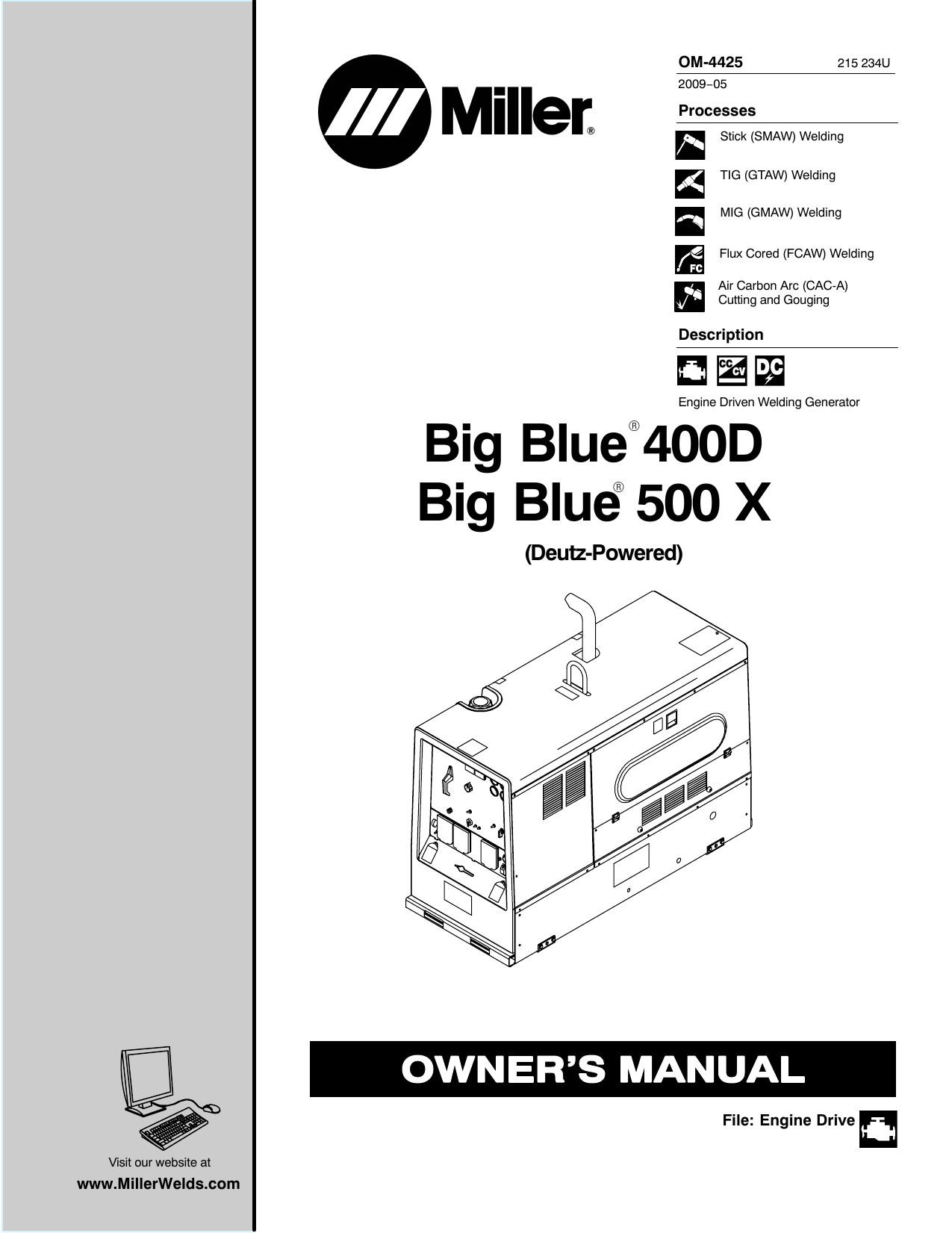 Big Blue 400D Big Blue 500 X