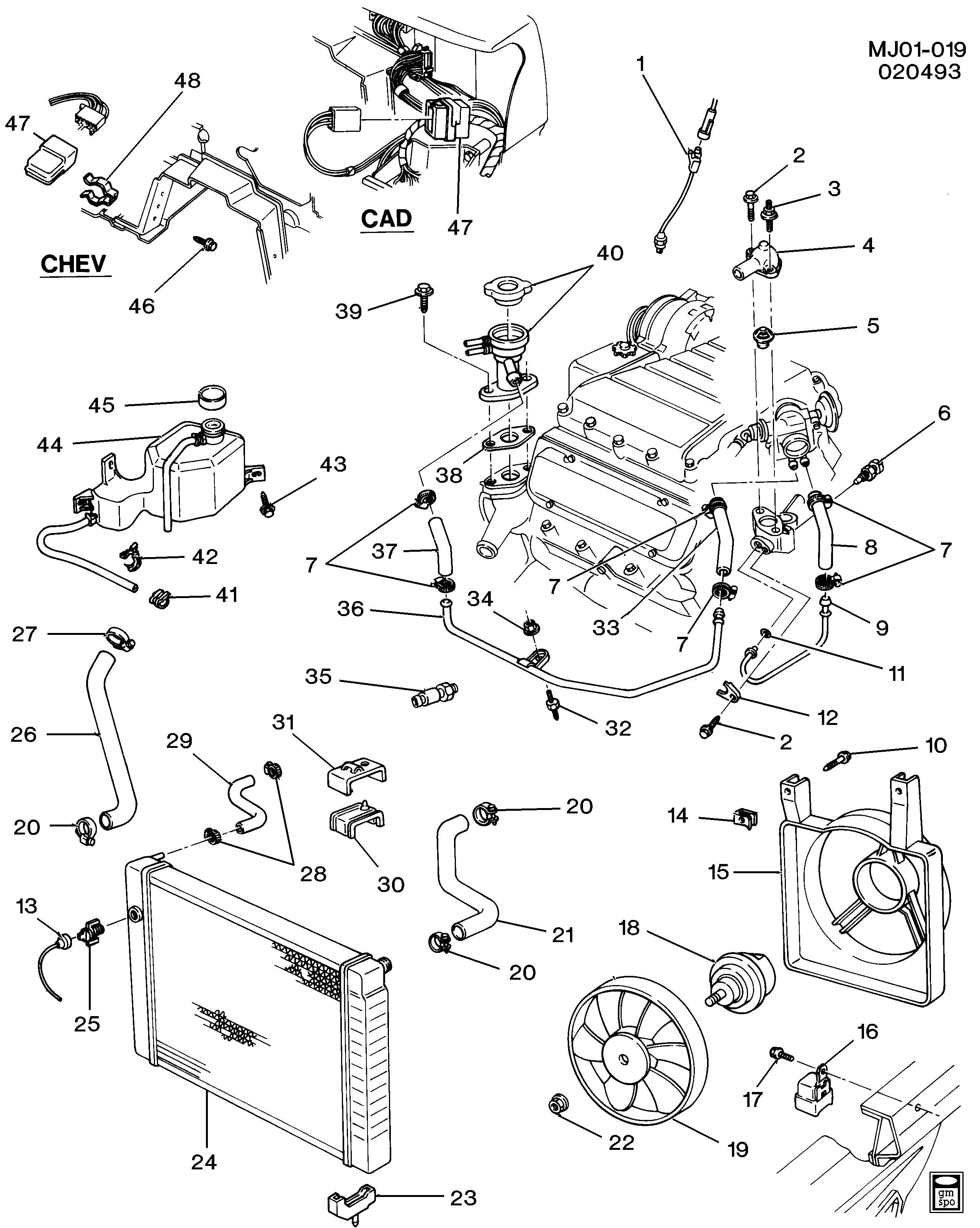 Diagram Of Cooling System for Engine Cadet Engine Cooling System 2 8l V6 Chevrolet Epc Line Of Diagram Of Cooling System for Engine