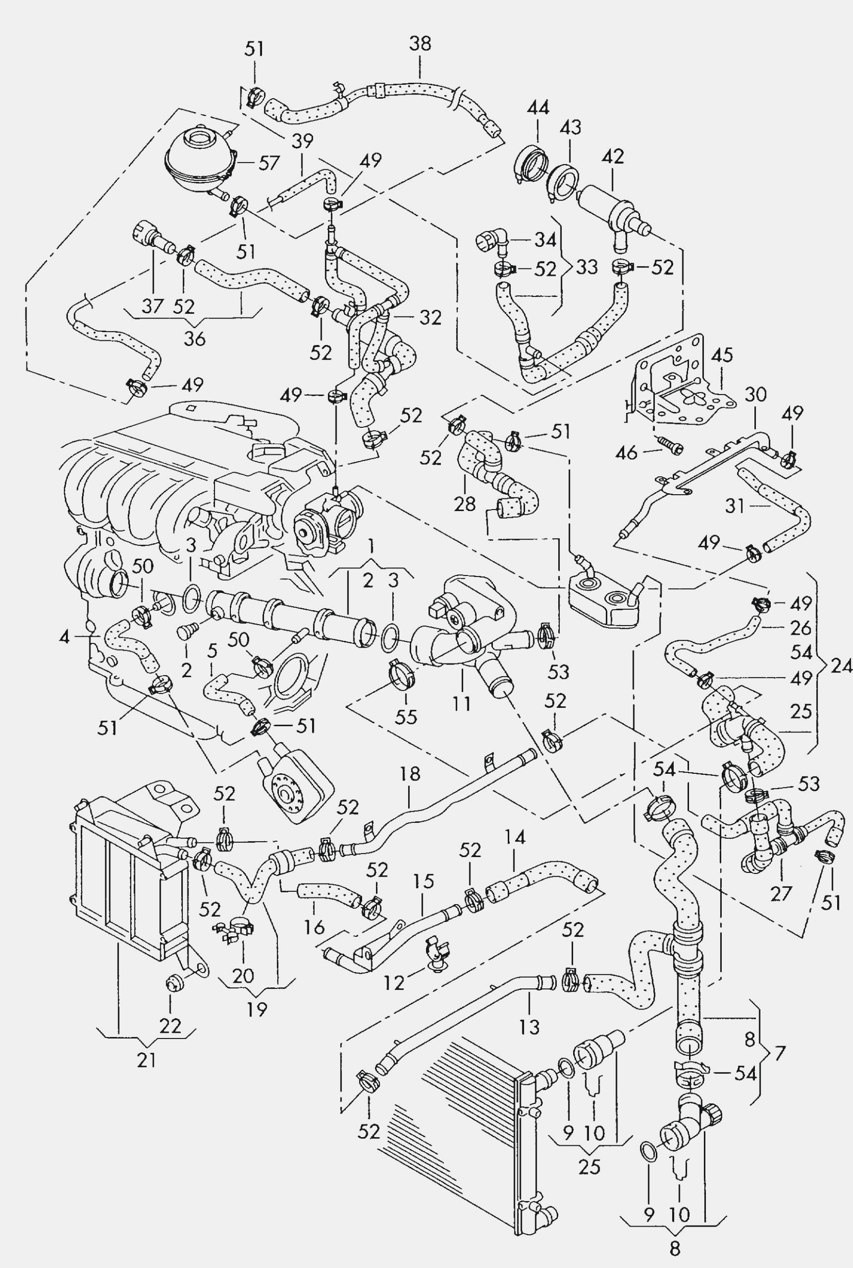 Diagram Of Cooling System for Engine Diagram Also 2012 Vw Jetta 2 0 Tsi Engine 95 Vw Jetta Wiring Of Diagram Of Cooling System for Engine