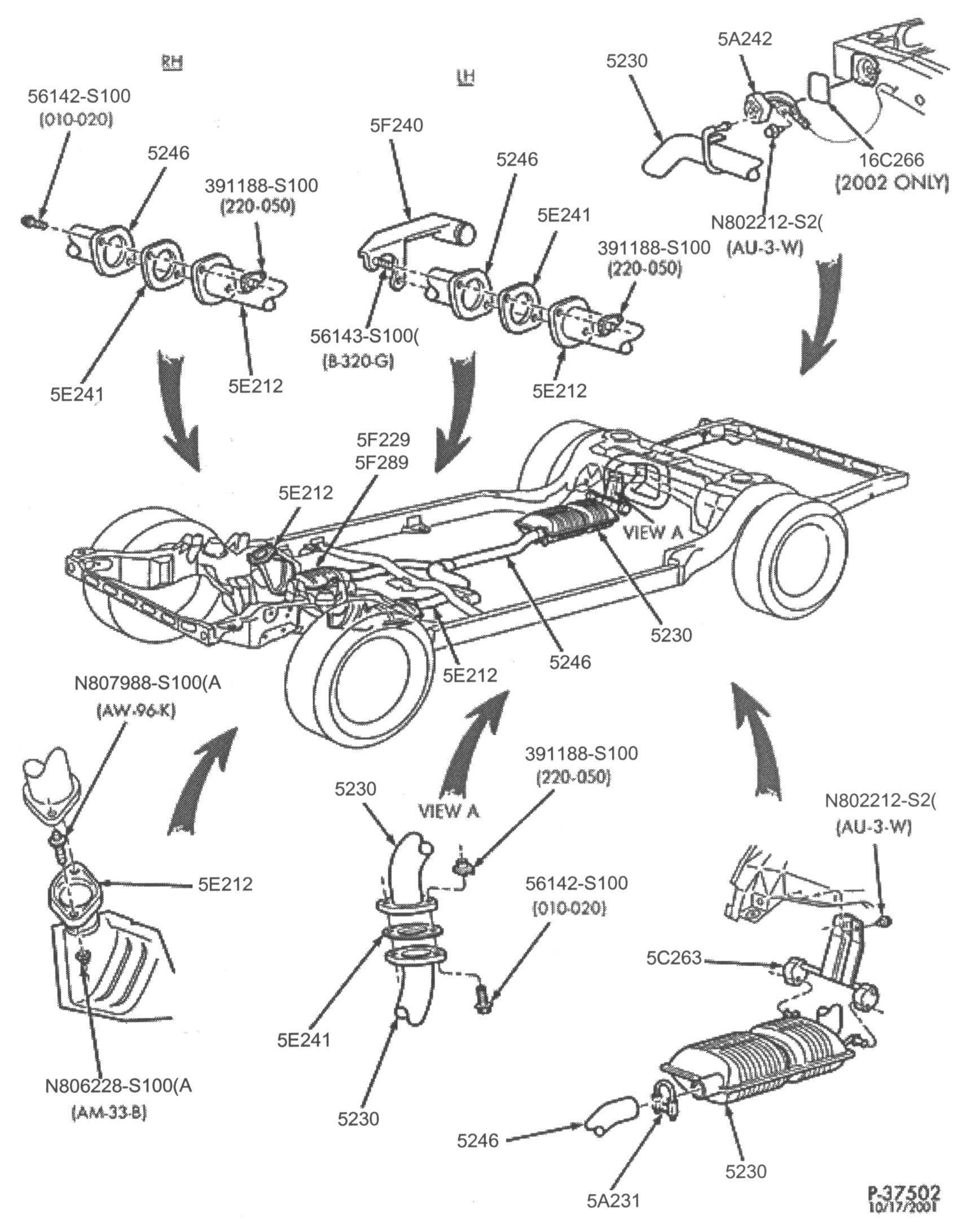 Diagram Of Exhaust System Of Car ford Crown Victoria Police Interceptor Exhaust Parts Of Diagram Of Exhaust System Of Car