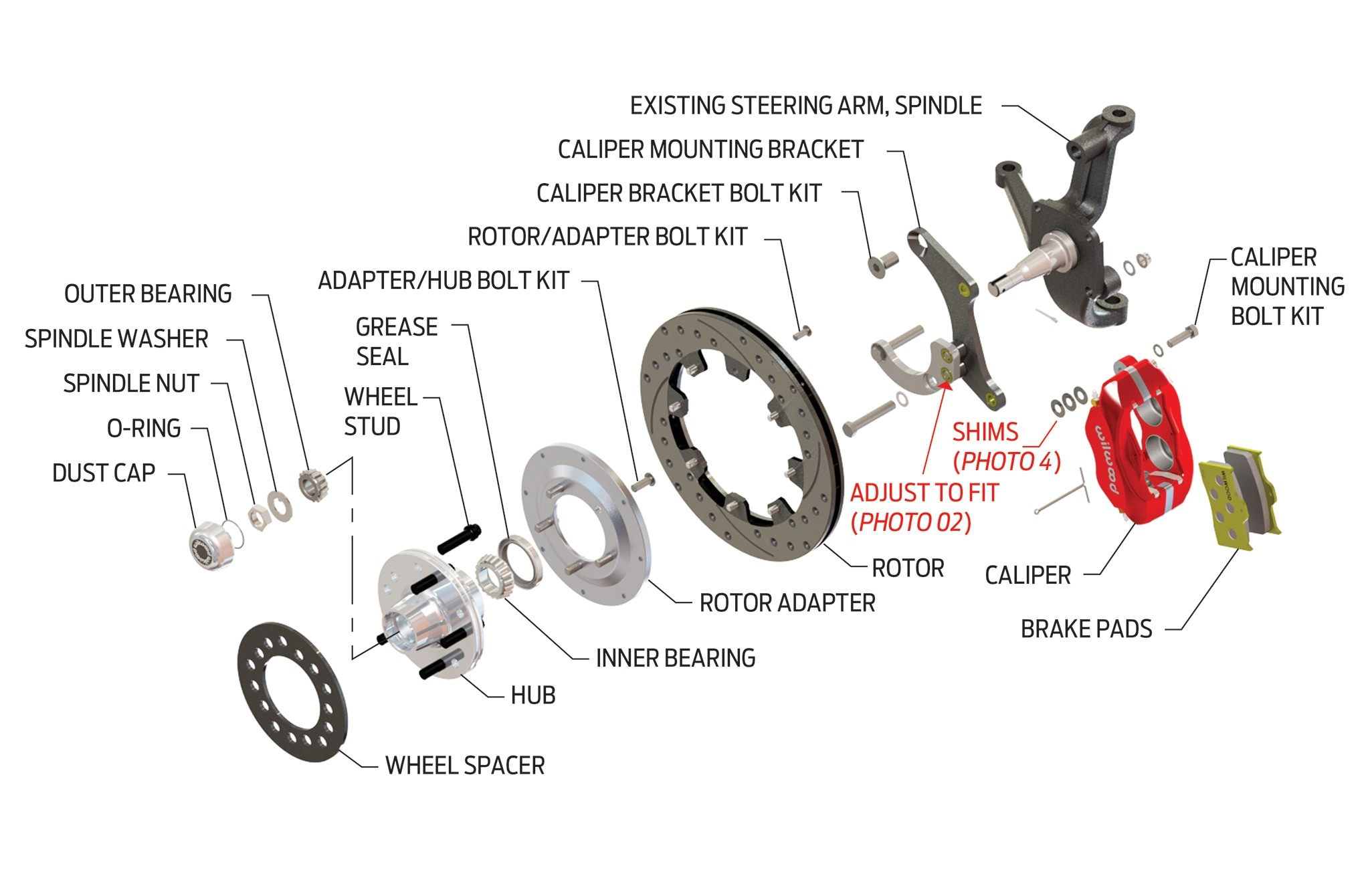Disc Brake assembly Diagram Hot Rod to the Rescue Fully Engineered 1955 Chevy Disc Brake Swap