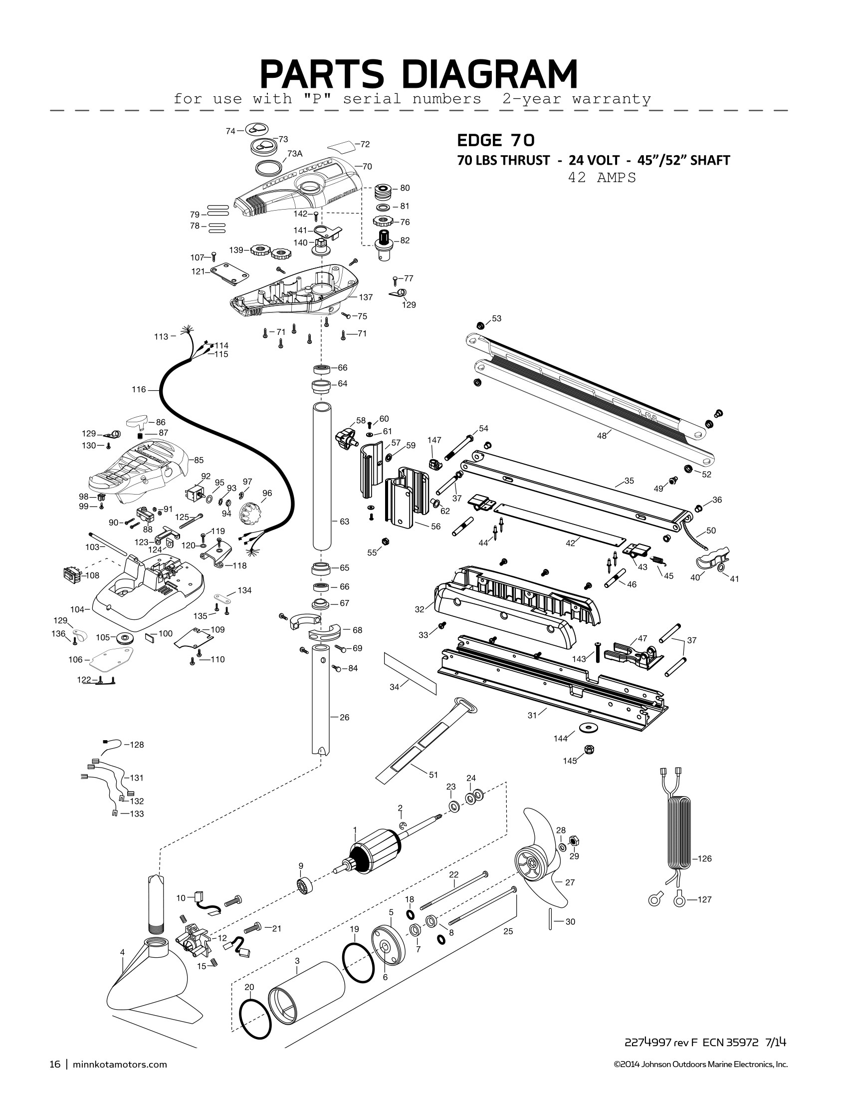 Electric Motor Parts Diagram Minn Kota Edge 70 Parts 2015 From Fish307 Of Electric Motor Parts Diagram