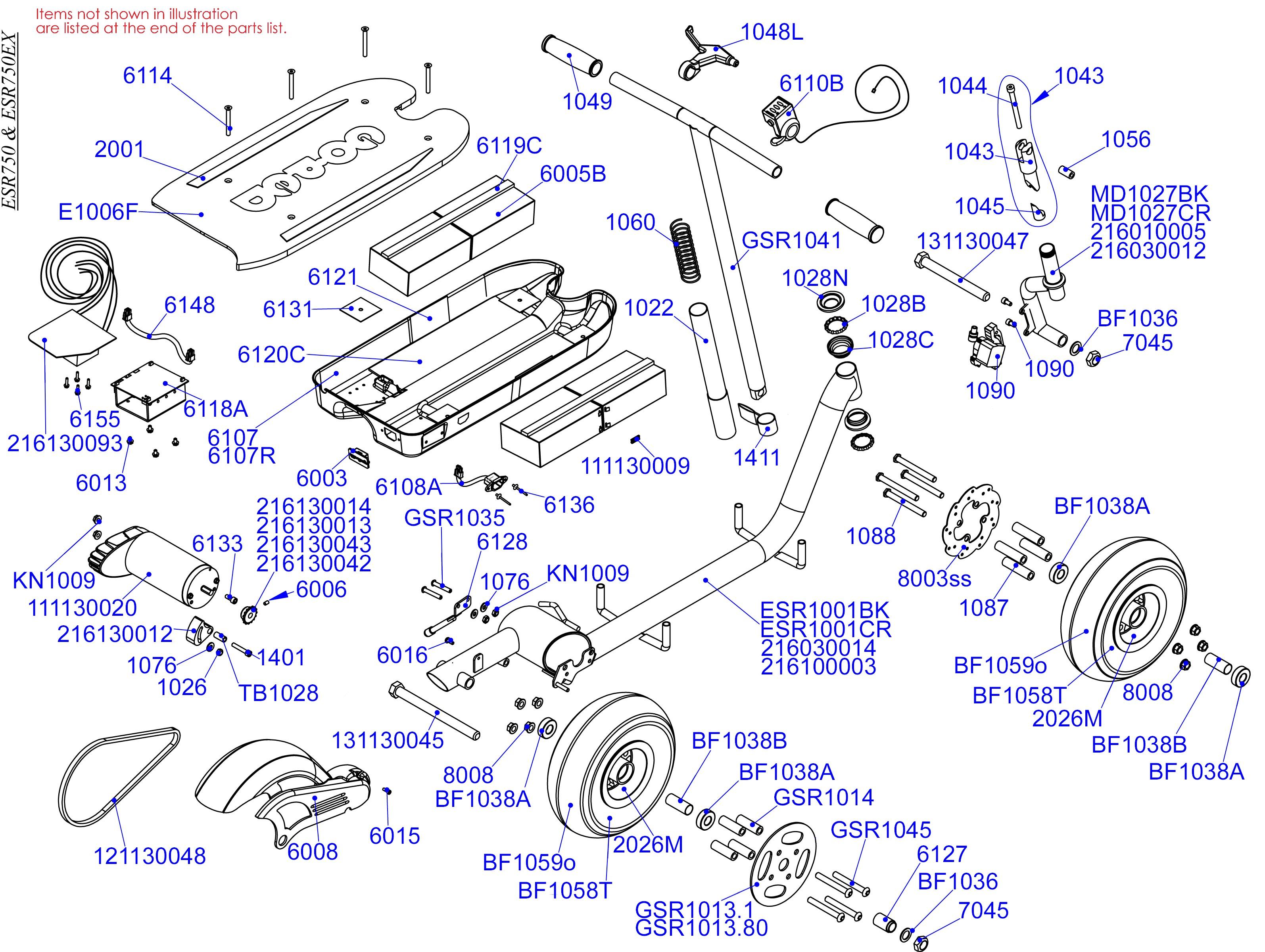 Electric Motor Parts Diagram Parts Electric Scooter Parts Esr 750 Of Electric Motor Parts Diagram