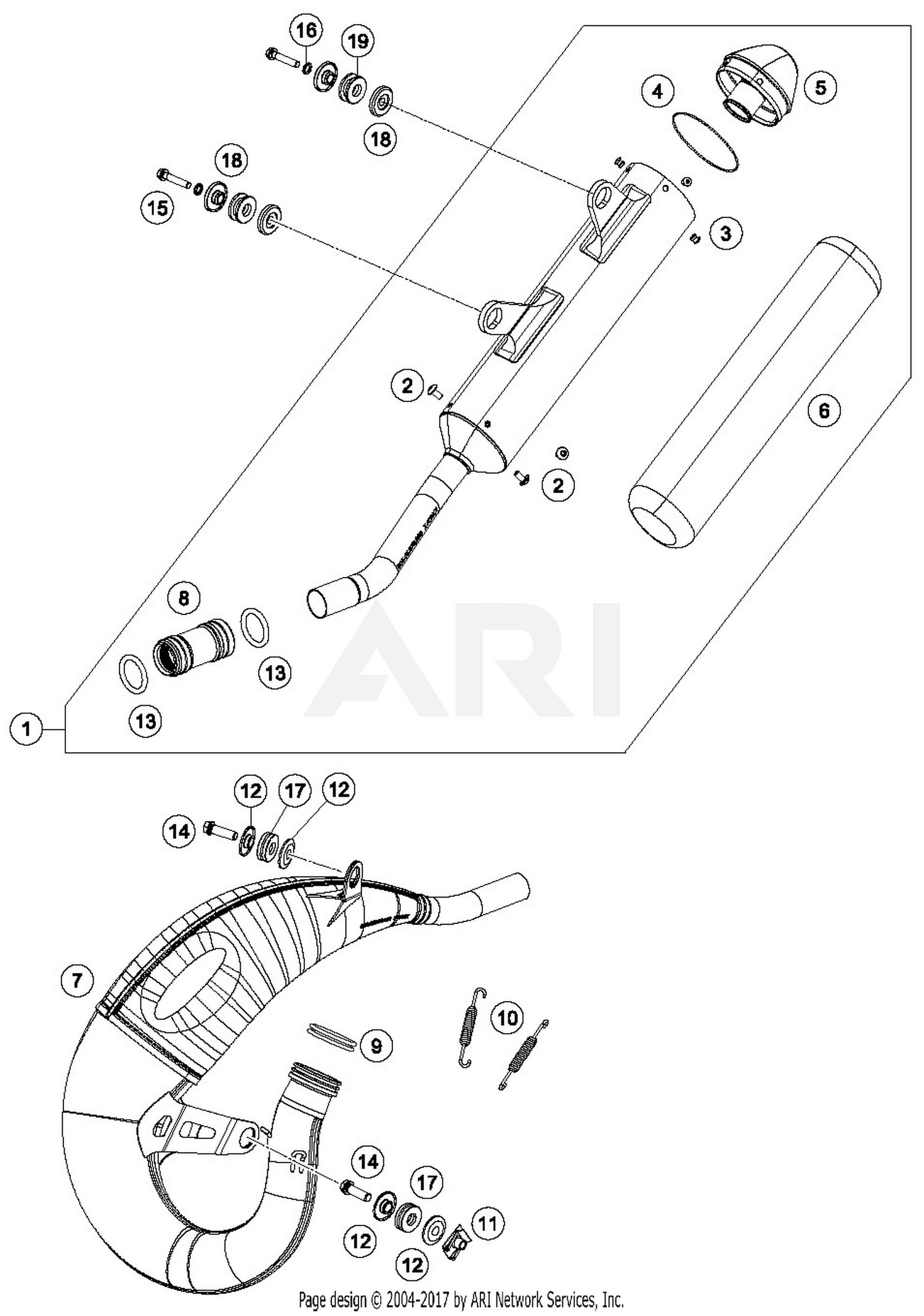 Exhaust System Parts Diagram 2019 Ktm 125 Sx Exhaust System 3 Oem Parts Of Exhaust System Parts Diagram Chev Gmc