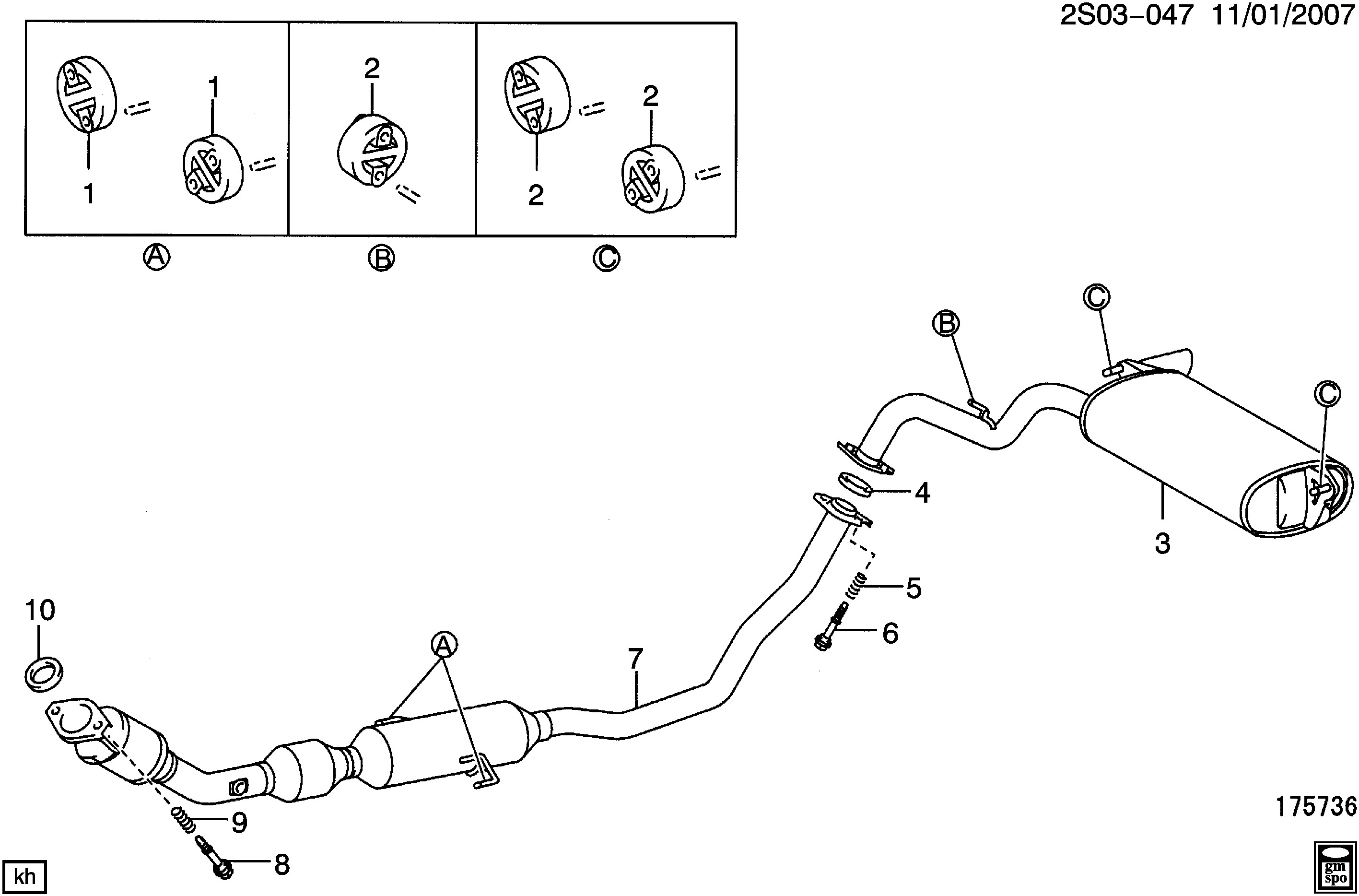 Exhaust System Parts Diagram Pontiac Vibe Sl26 Exhaust System Lay 1 8 8 Epc Line Nemiga Of Exhaust System Parts Diagram Esaabparts Saab 9 3 9440 Engine Parts Exhaust System