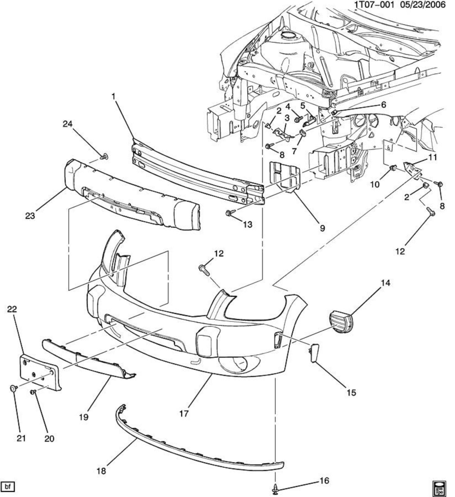Front End Suspension Parts Diagram Front Clip assembly Chevy Hhr Network Of Front End Suspension Parts Diagram