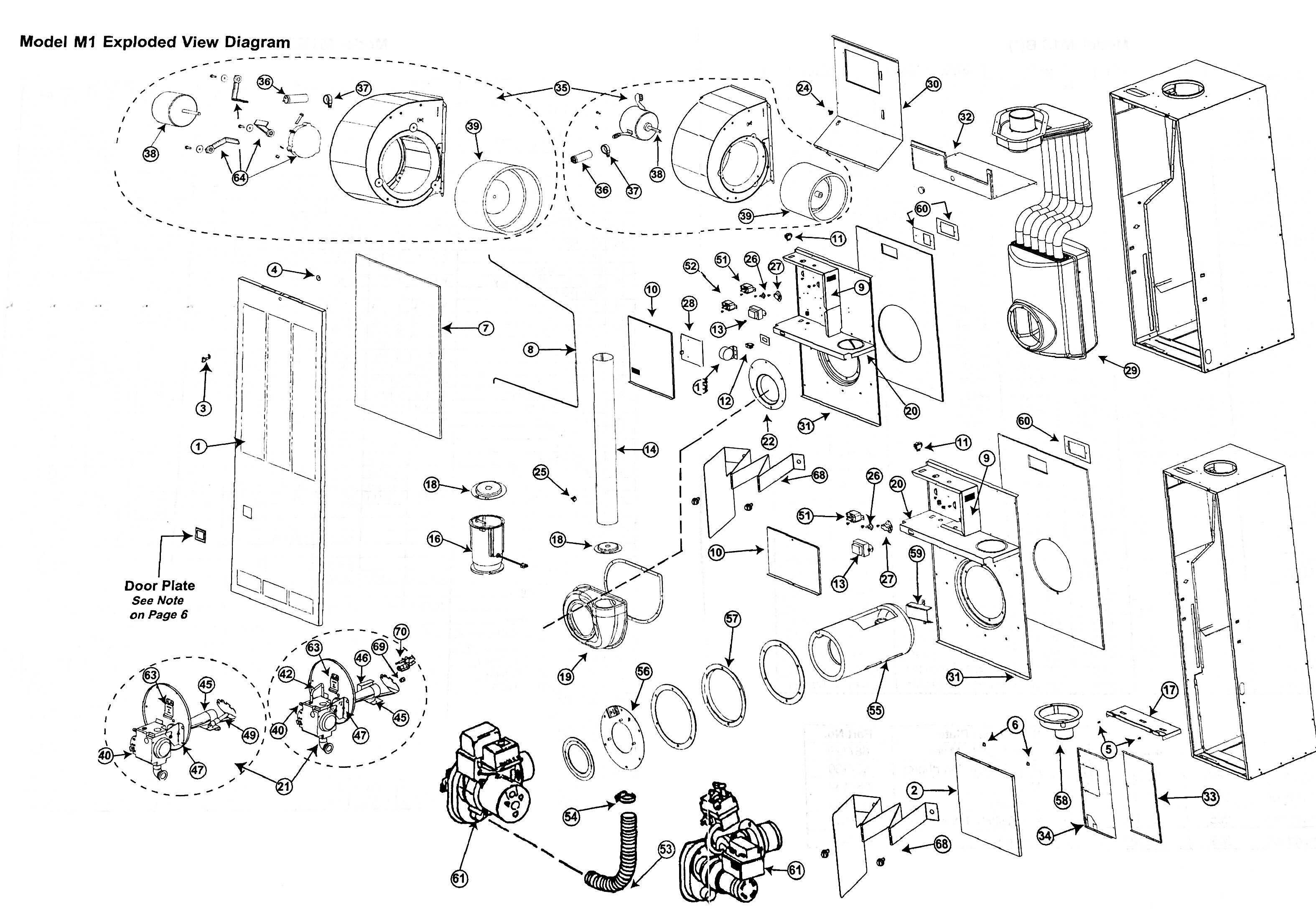 gas furnace parts diagram
