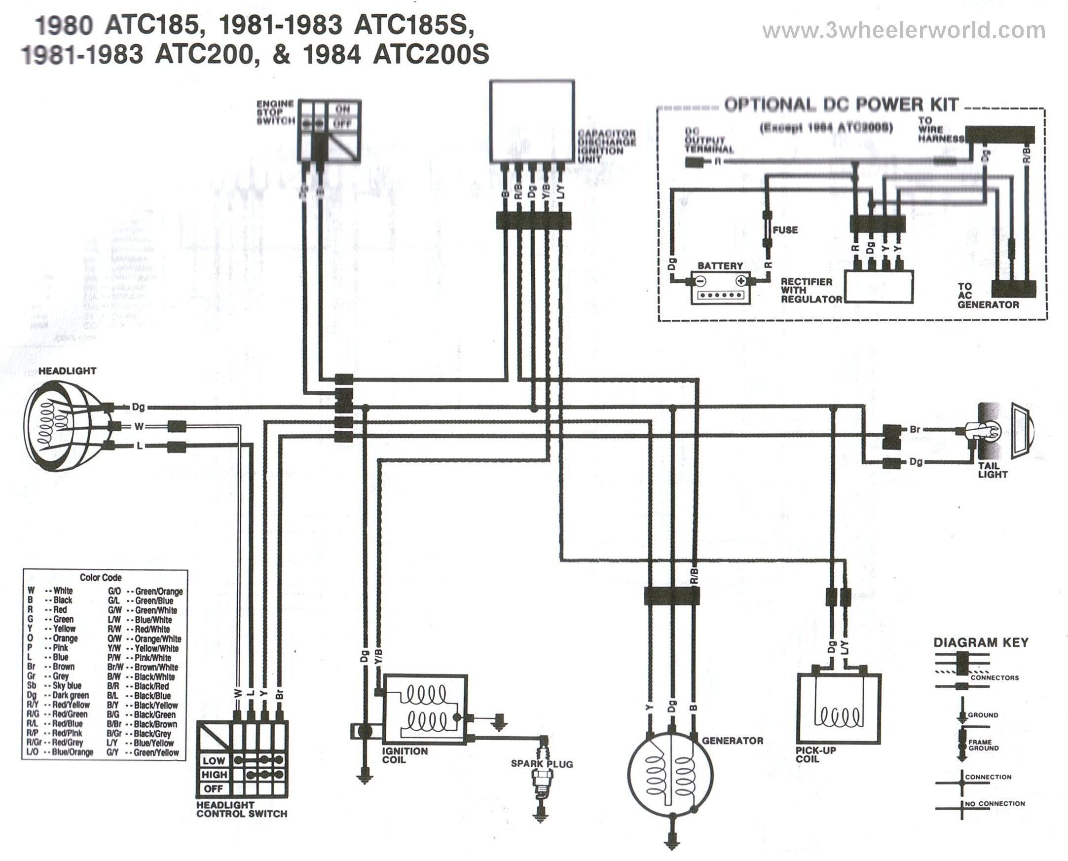 Honda atv Parts Diagram 2001 Honda Rancher 350 Wiring ... on