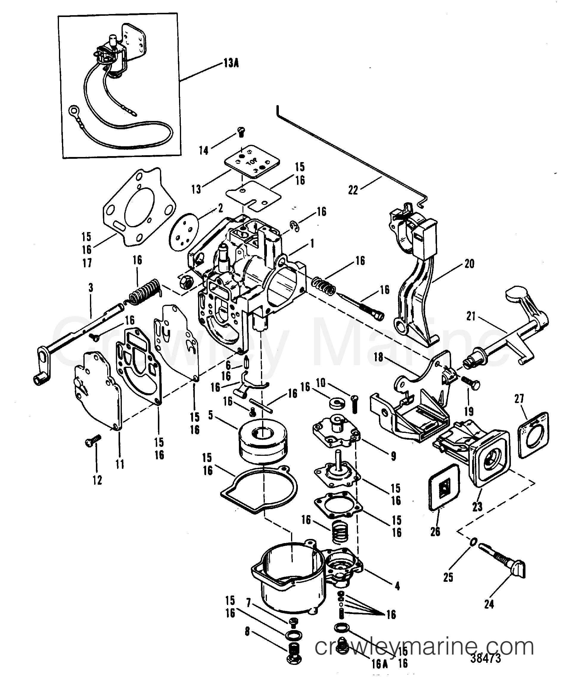 Mercruiser Engine Parts Diagram Carburetor Wmc 9 10 11 12 24 25 26 27 1977 Mariner Outboard 20 [m Of Mercruiser Engine Parts Diagram thermostat Housing Standard Cooling for Mercruiser 5 7l Alpha
