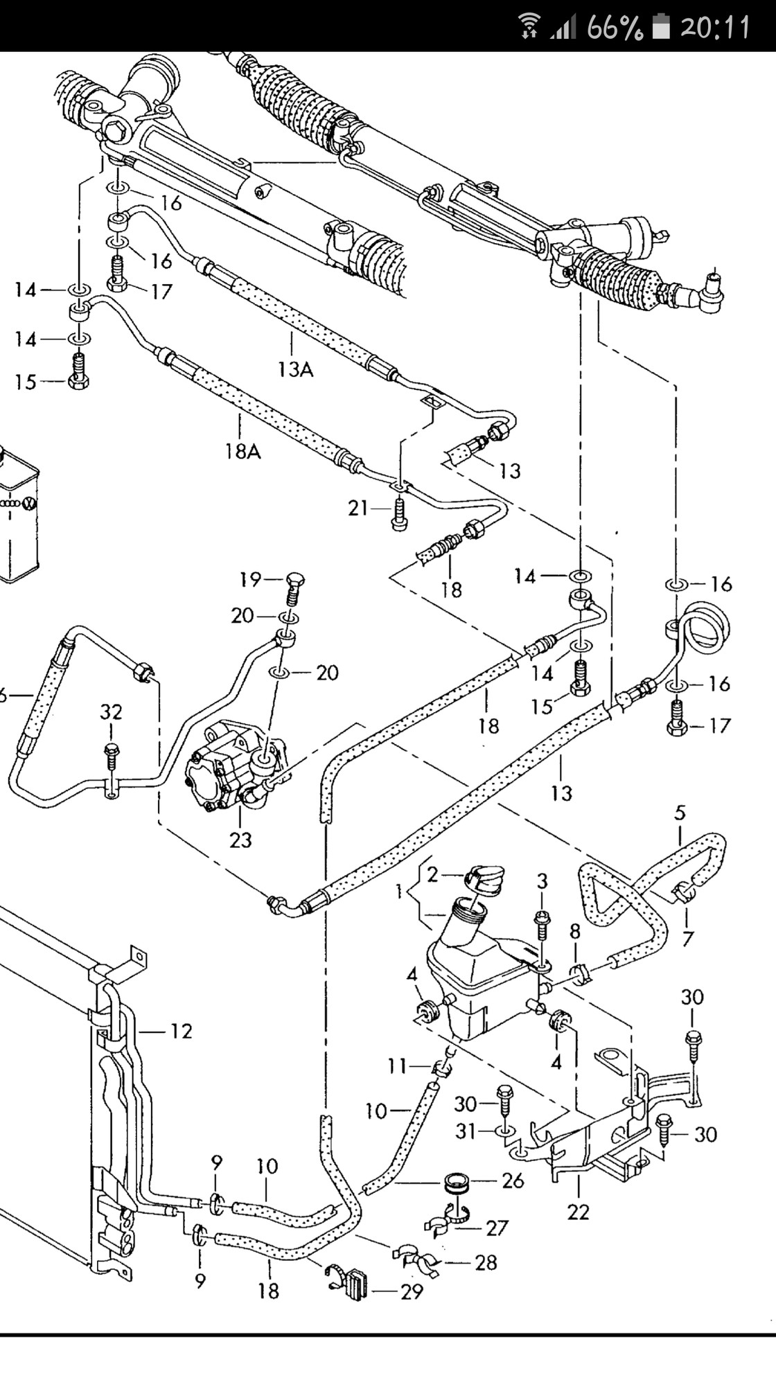 Power Steering assembly Diagram Replacing Power Steering Hose Audiworld forums Of Power Steering assembly Diagram