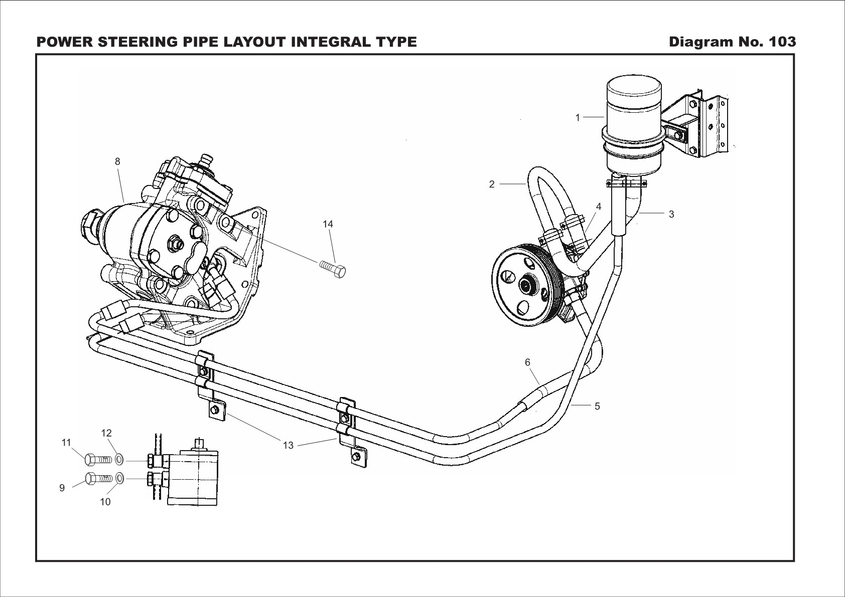 Power Steering assembly Diagram Traveller Crdi Steering assembly Power Steering Pipe Layout Integral