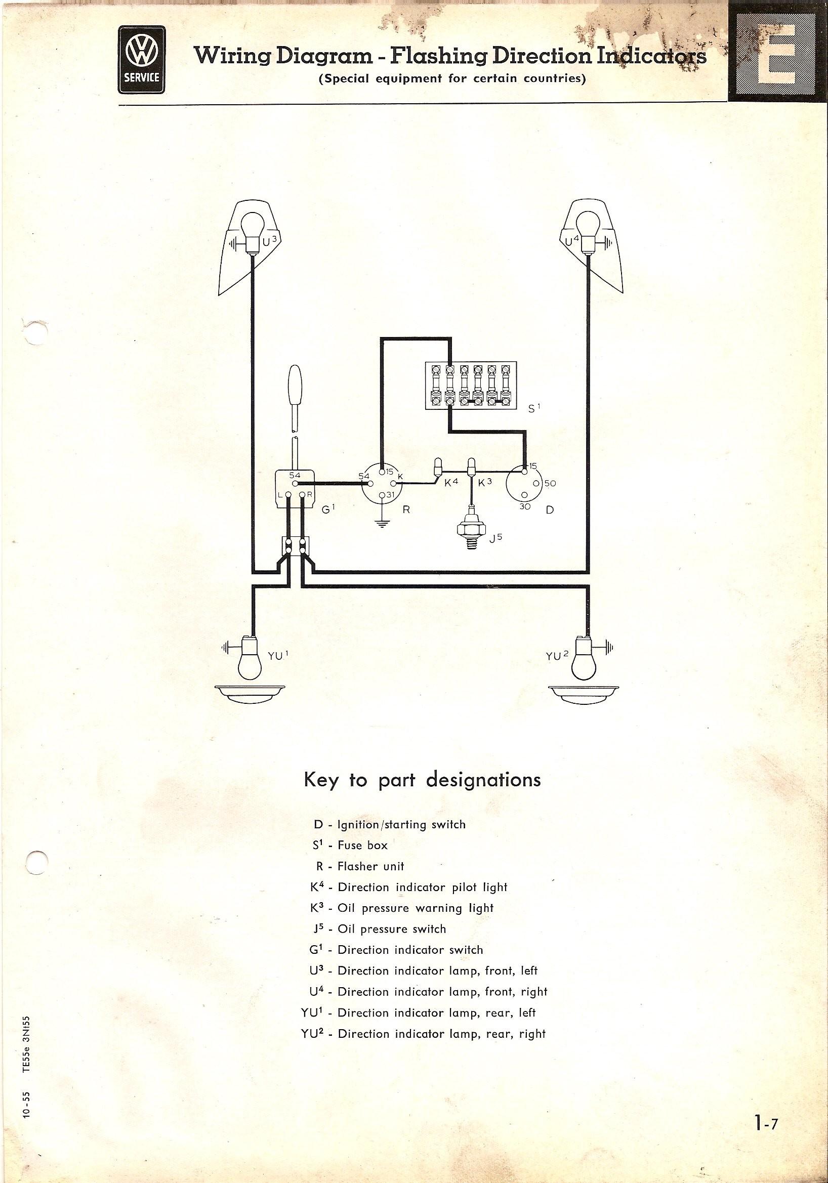 Wiring Diagram for Turn Signal Flasher thesamba Type 2 Wiring Diagrams Of Wiring Diagram for Turn Signal Flasher