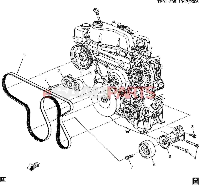 2000 Nissan Maxima Se Engine Diagram Esaabparts Saab 9 7x Engine Parts Belts & Pulleys Of 2000 Nissan Maxima Se Engine Diagram