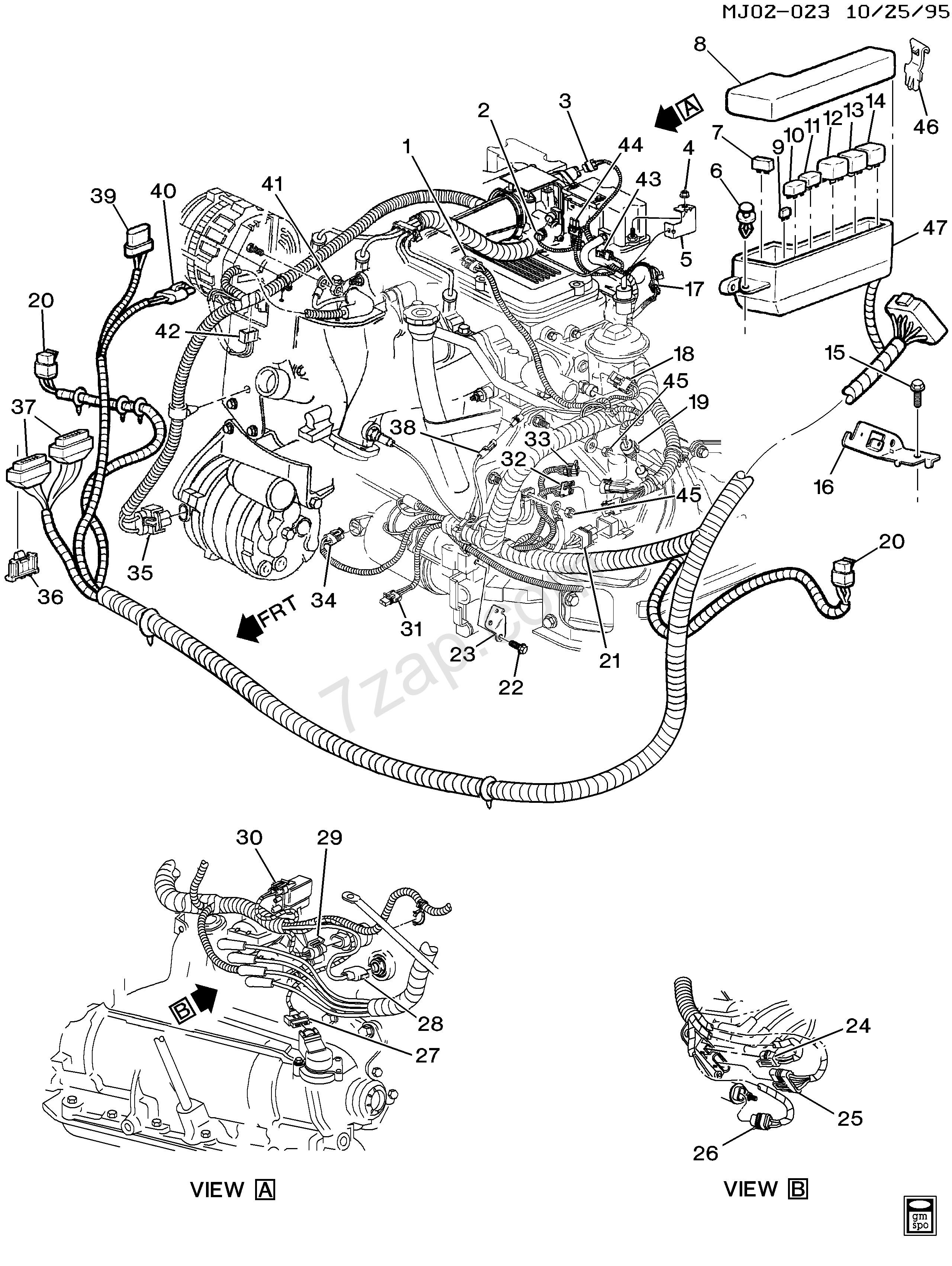 2002 Chevy Cavalier Engine Diagram 1996 2002 J Wiring Harness Engine Ln2 2 2 4 Chevrolet