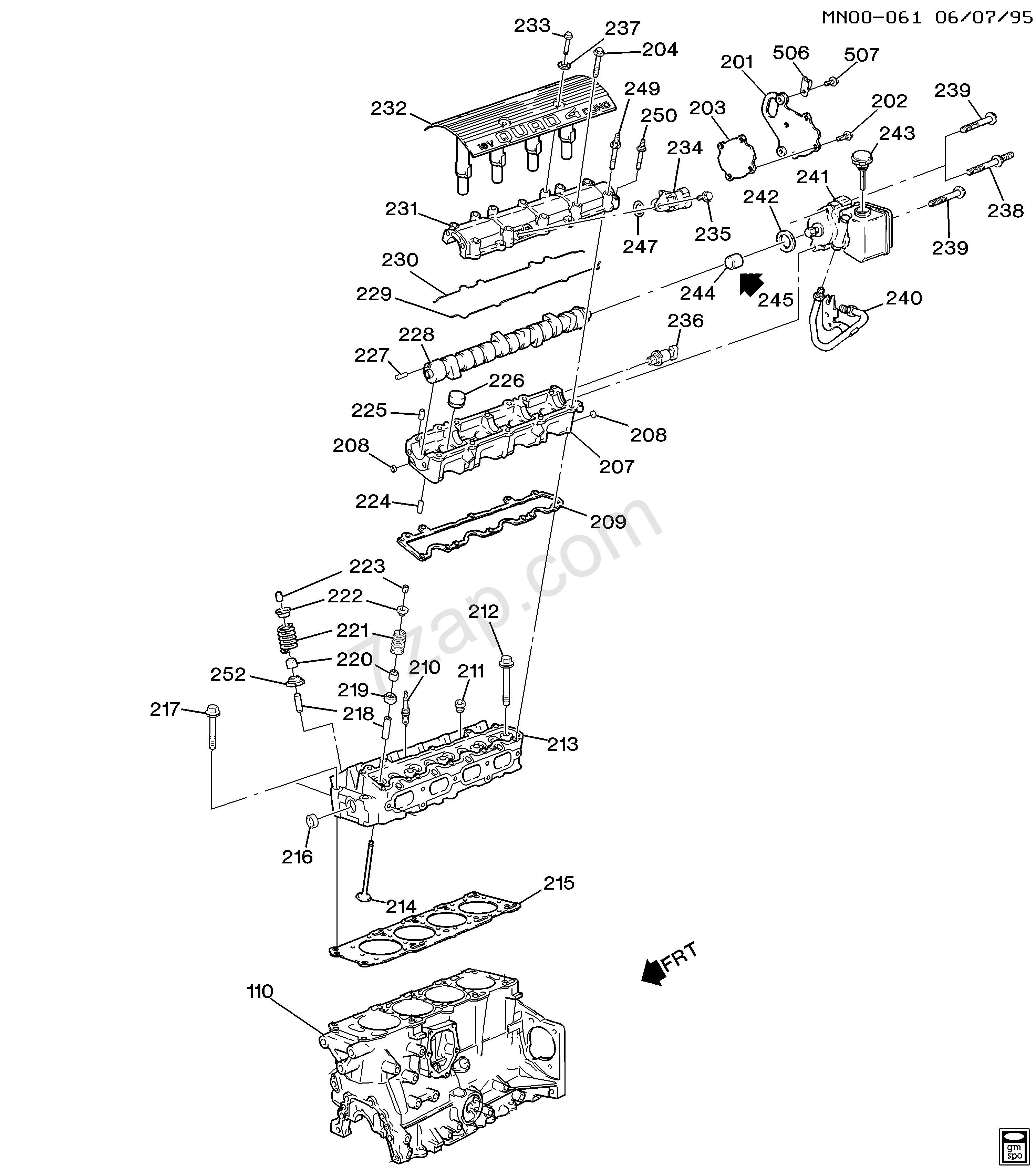 2002 Chevy Cavalier Engine Diagram 2001 2002 J Engine asm 2 4l L4 Part 2 Cylinder Head Of 2002 Chevy Cavalier Engine Diagram