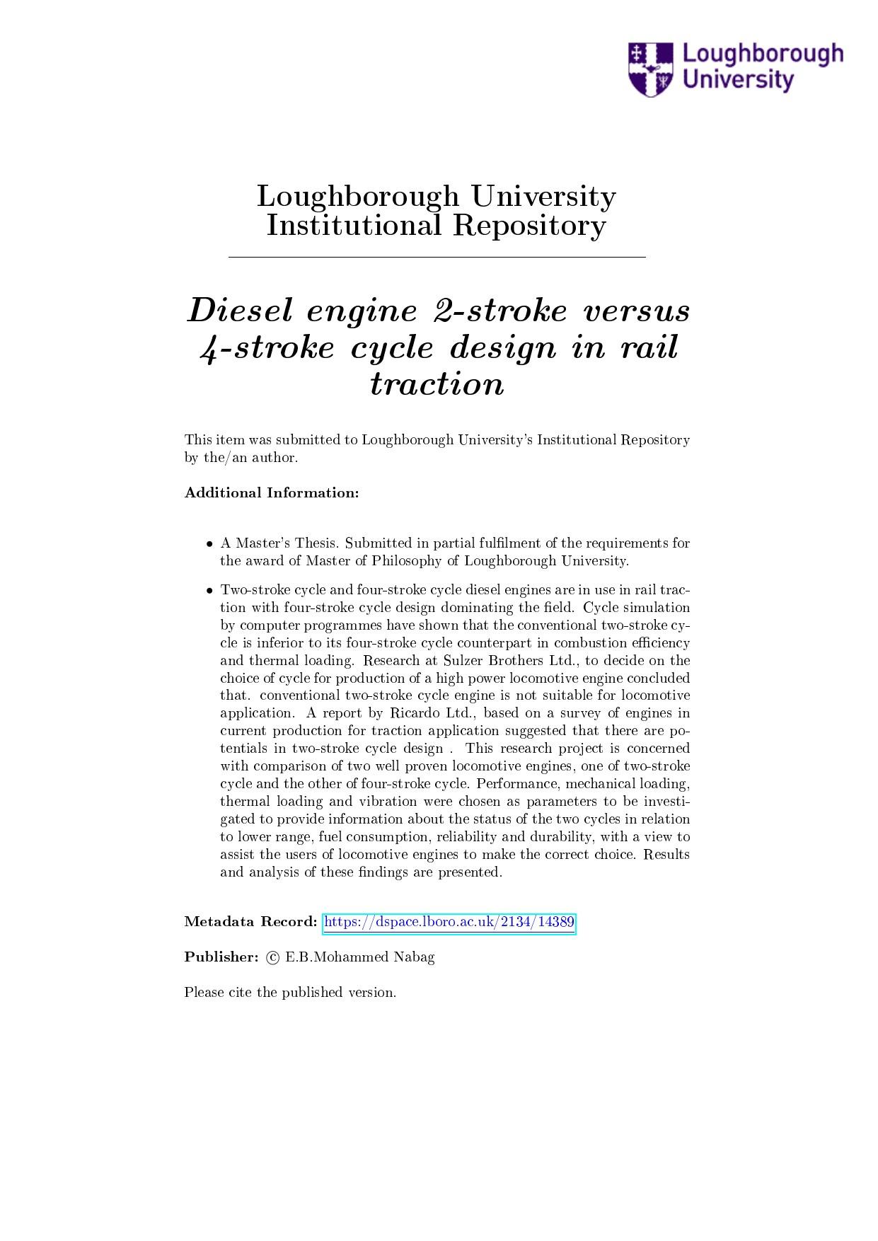 4 Stroke Diesel Engine Diagram Diesel Engine 2 Stroke Versus 4 Stroke Cycle Design In Rail Of 4 Stroke Diesel Engine Diagram