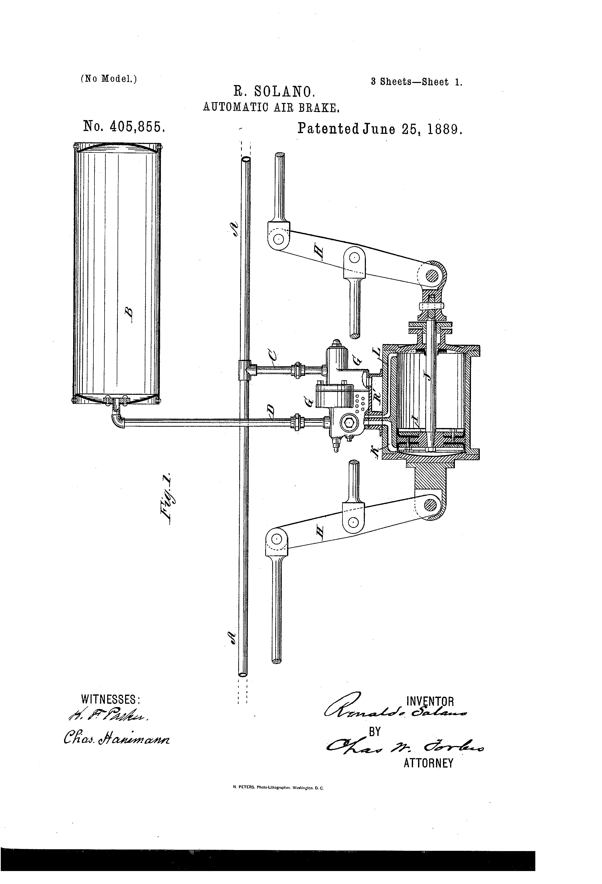 Air Brake Diagram Us A Automatic Air Brake Google Patents Of Air Brake Diagram
