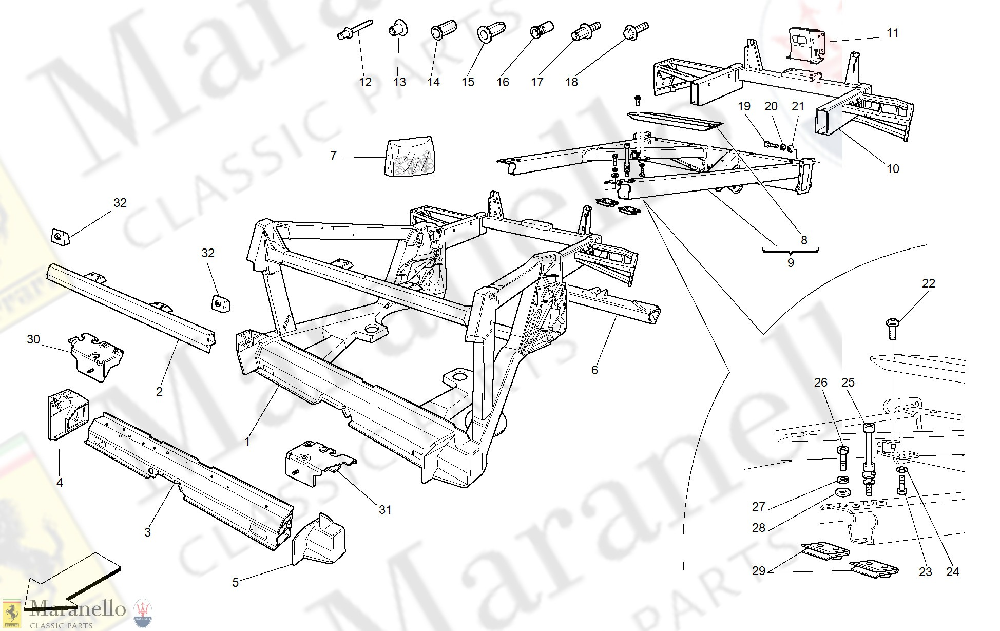 Car Frame Diagram 104 Frame Rear Elements Structures and Plates Parts Of Car Frame Diagram